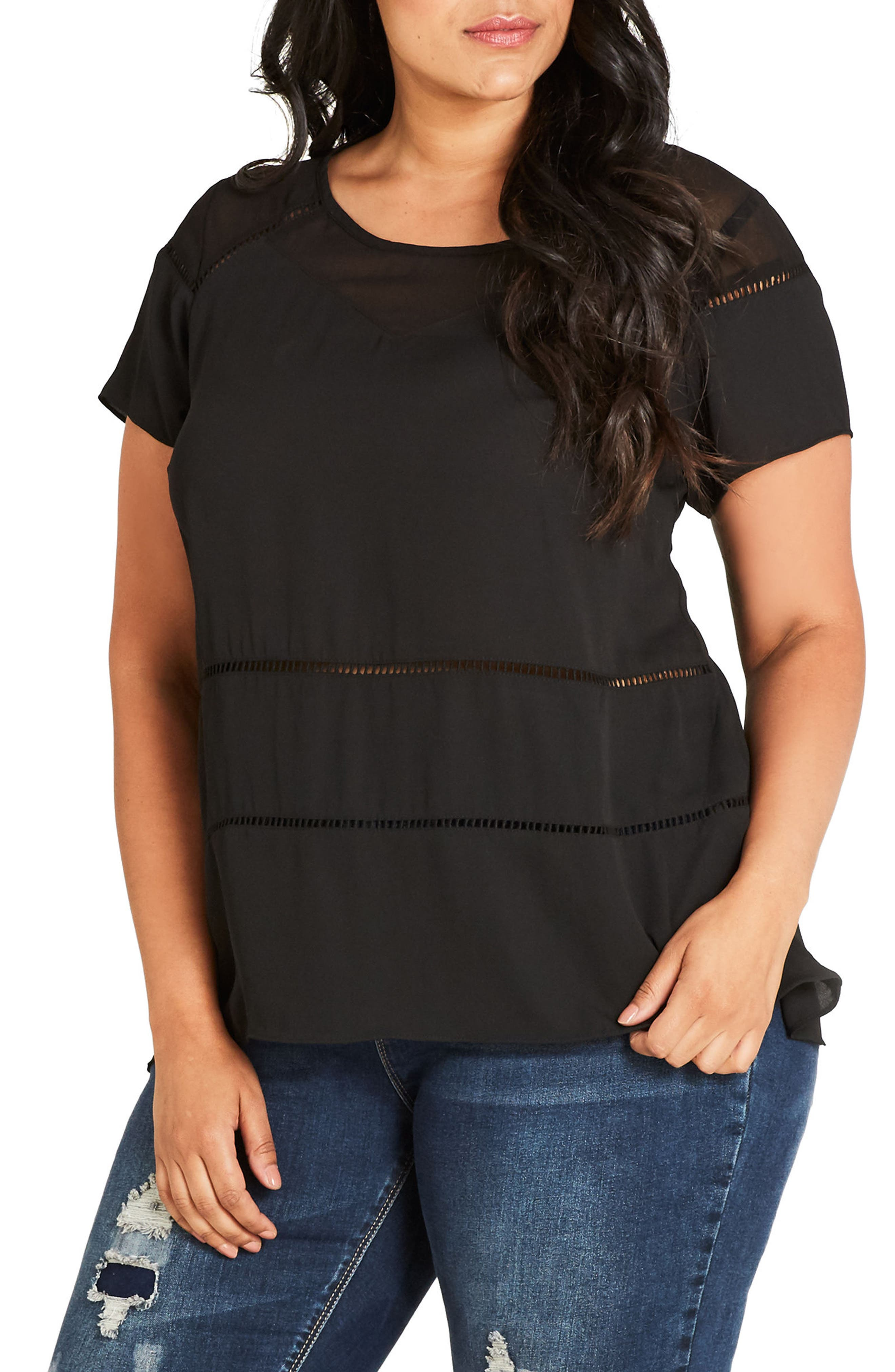 Night Out Top,                         Main,                         color, Black
