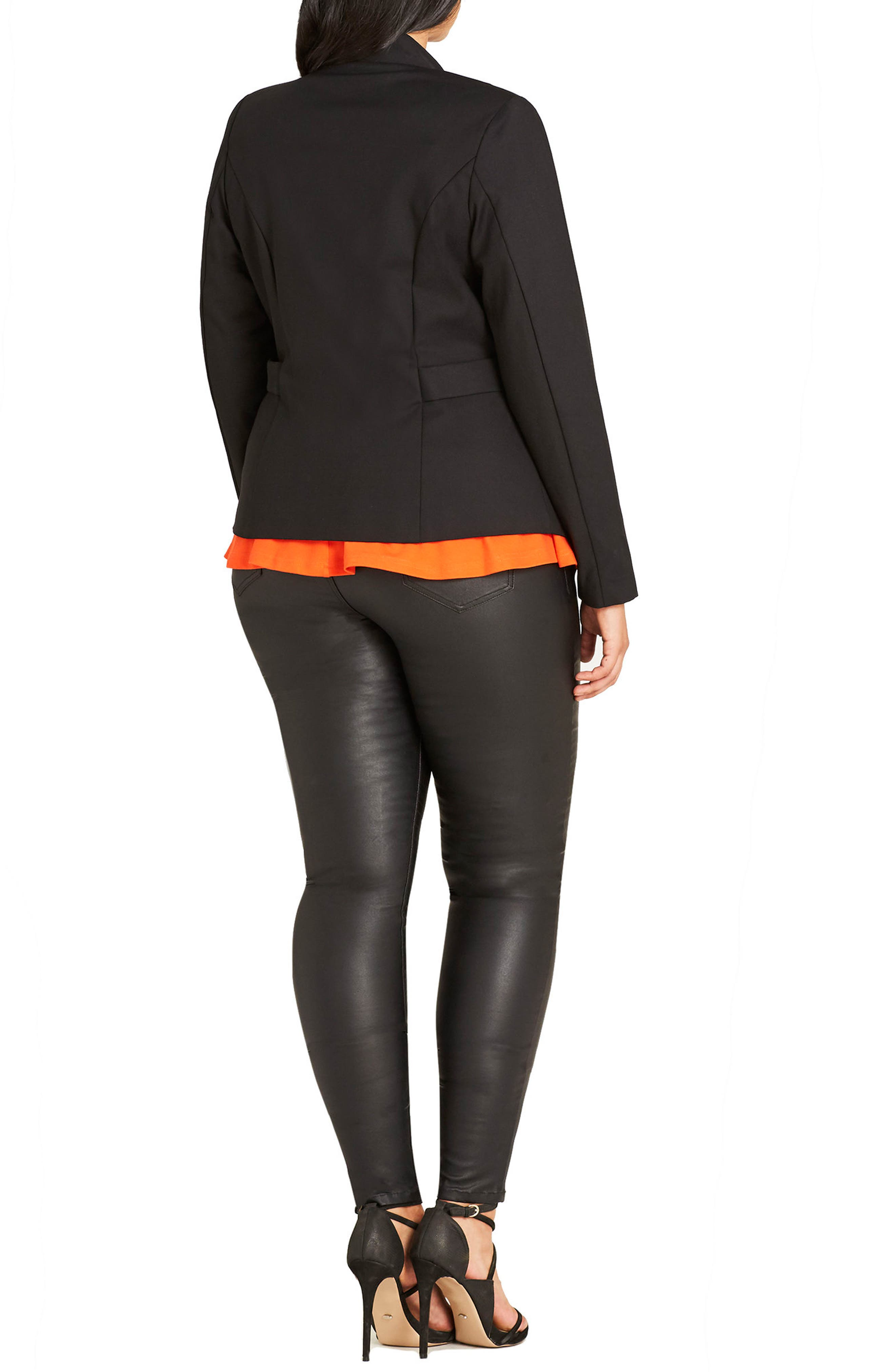 Alternate Image 2  - City Chic Blazer (Plus Size)