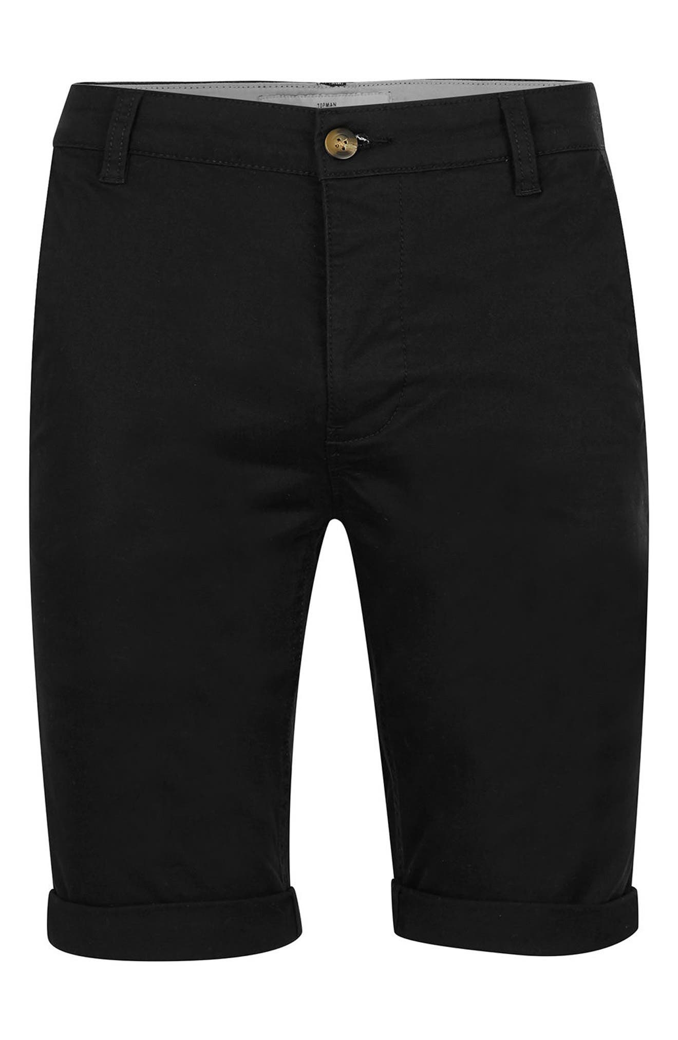 Alternate Image 5  - Topman Stretch Skinny Fit Chino Shorts