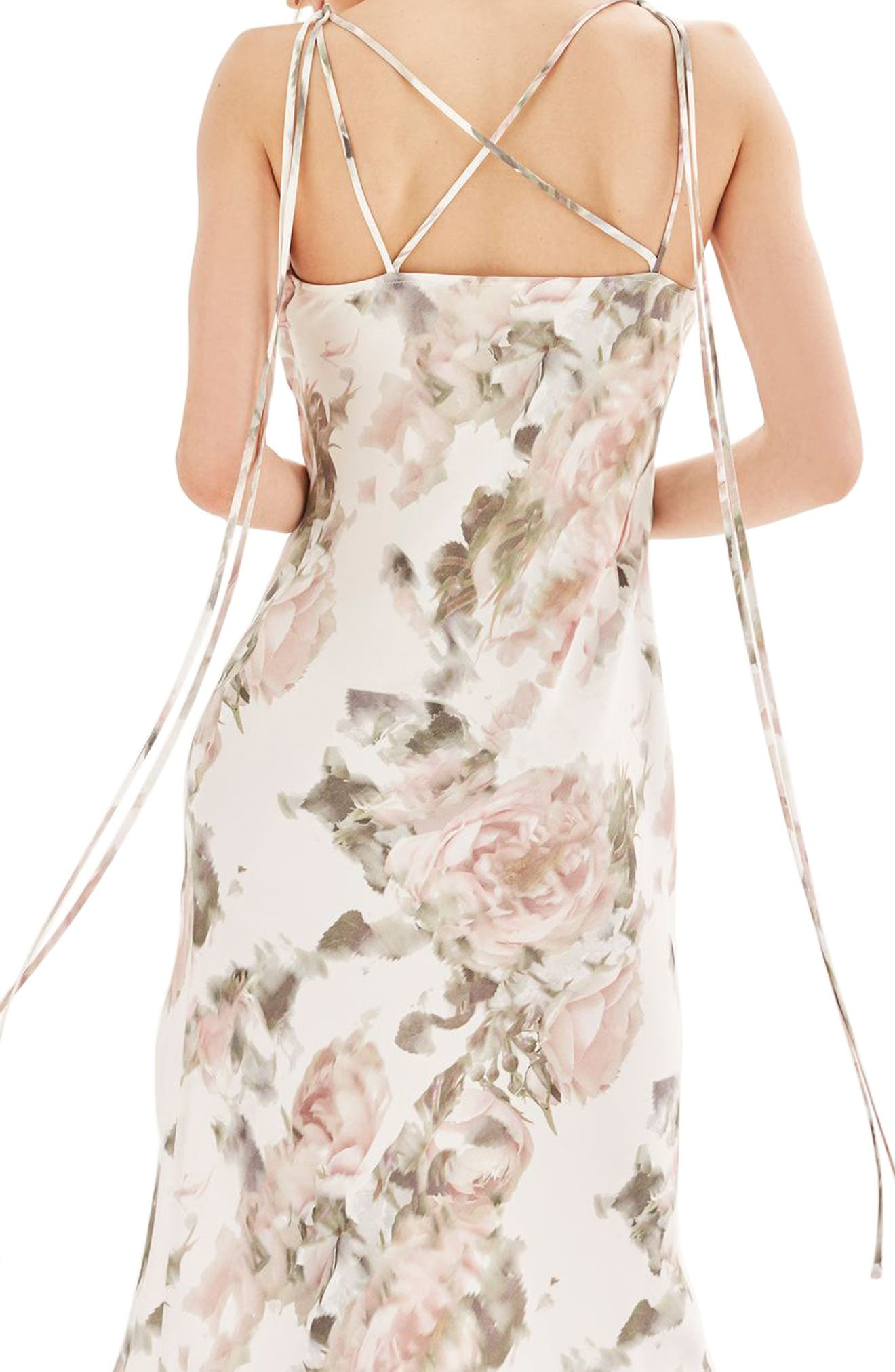 Alternate Image 3  - Topshop Bride Asymmetrical Slipdress