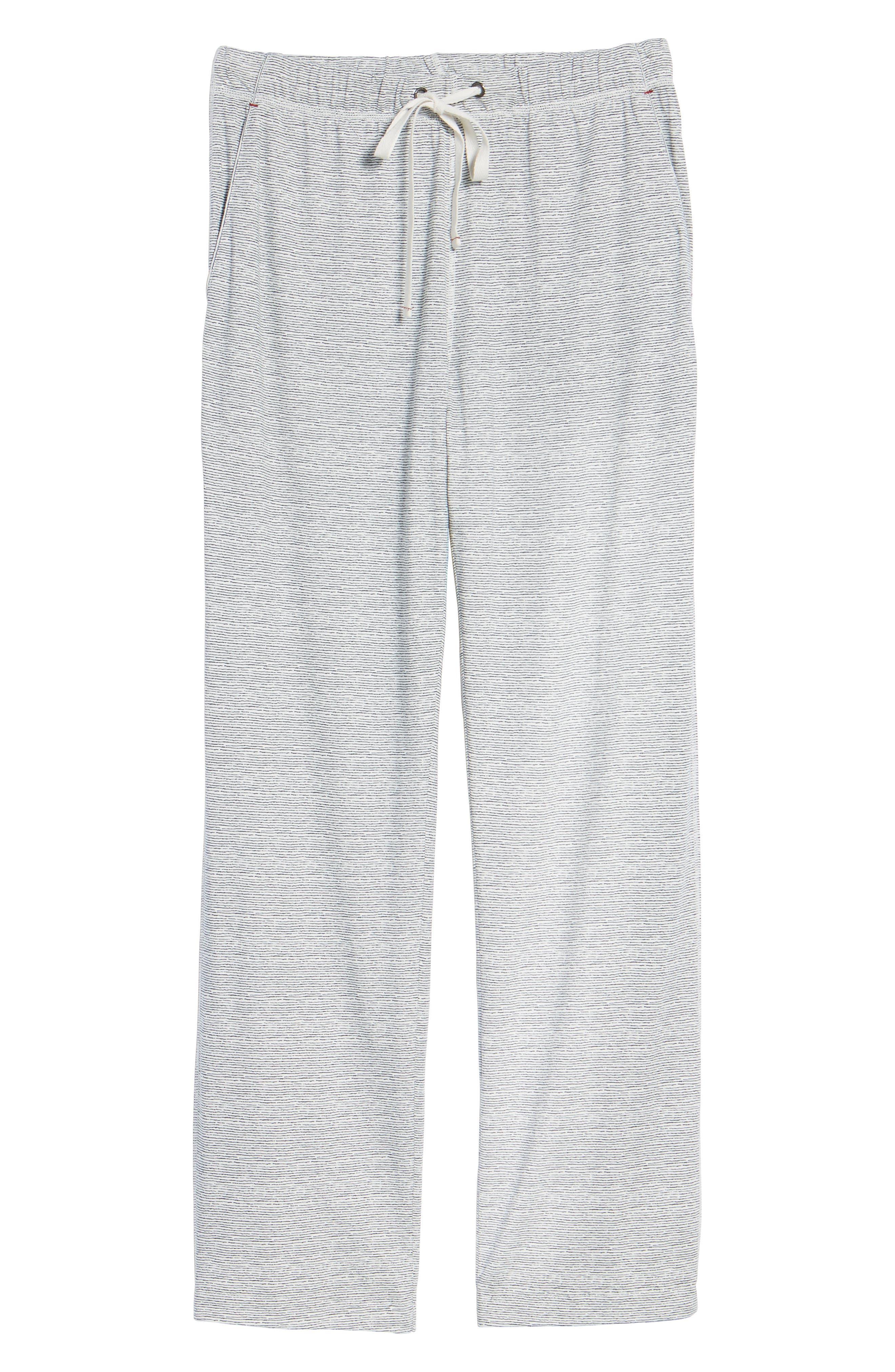 Pima Cotton & Modal Lounge Pants,                             Alternate thumbnail 6, color,                             Blue