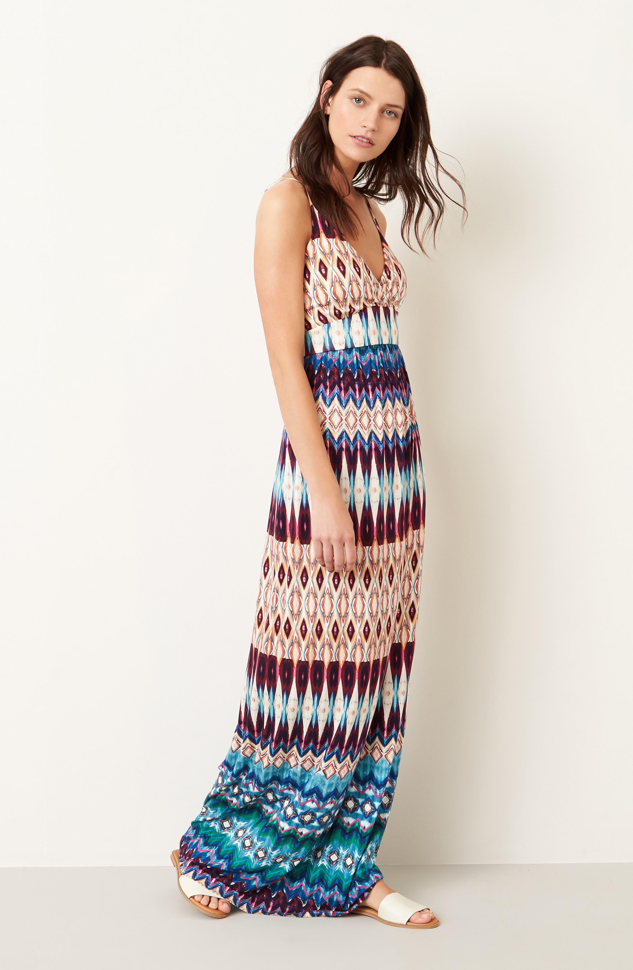 Alternate Image 2  - Felicity & Coco Floral Print Jersey Maxi Dress (Regular & Petite) (Nordstrom Exclusive)