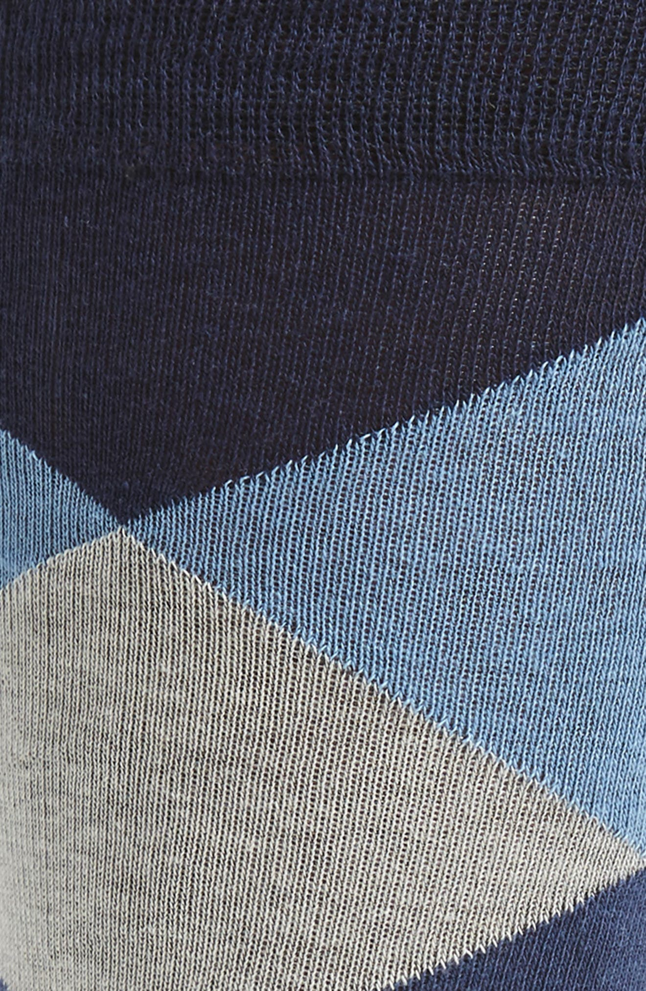 Large Diamond Crew Socks,                             Alternate thumbnail 2, color,                             Marine Blue