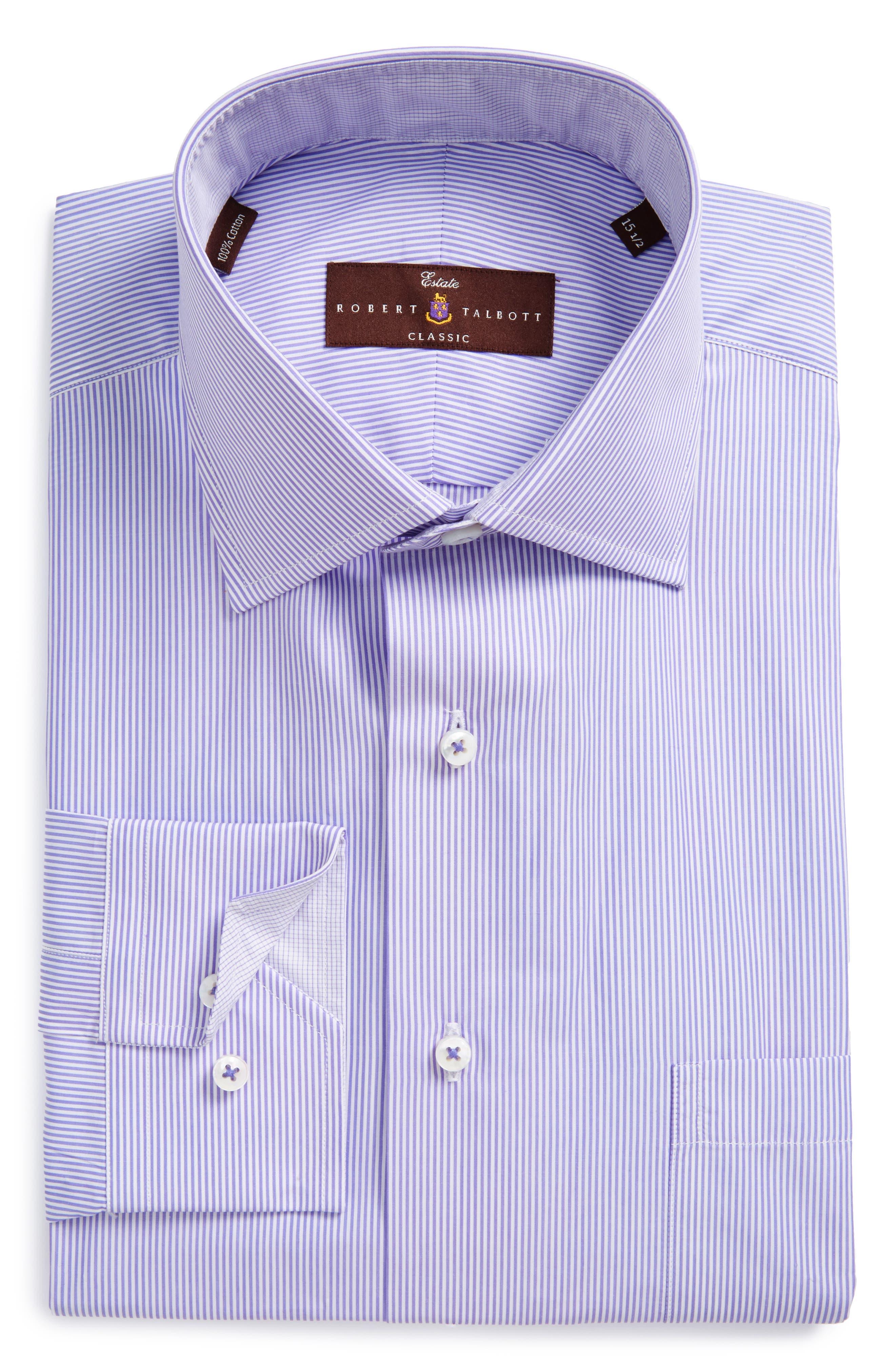 ROBERT TALBOTT Estate Classic Fit Stripe Dress Shirt