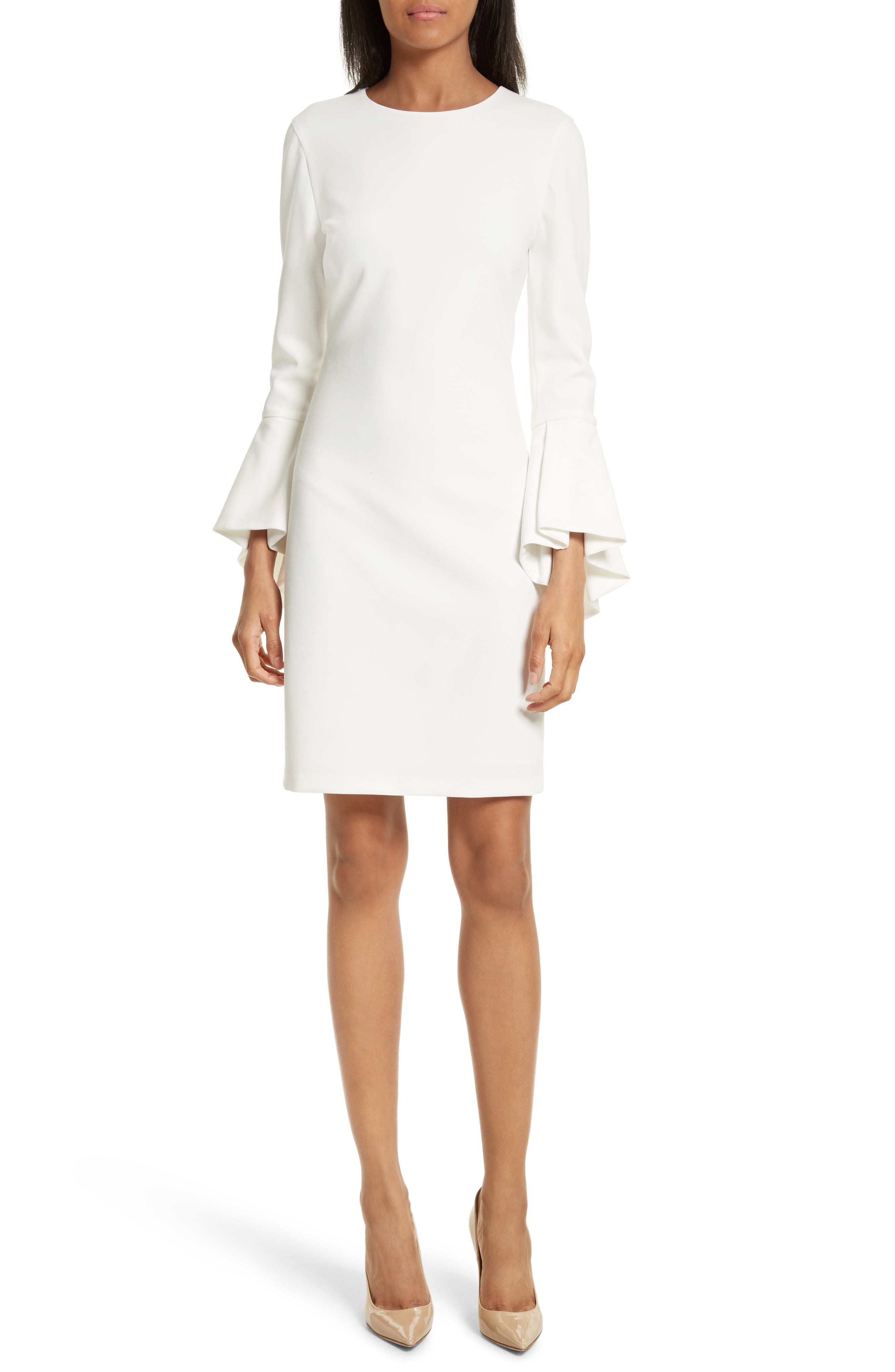 ALICE + OLIVIA Dora Bell Sleeve Shift Dress