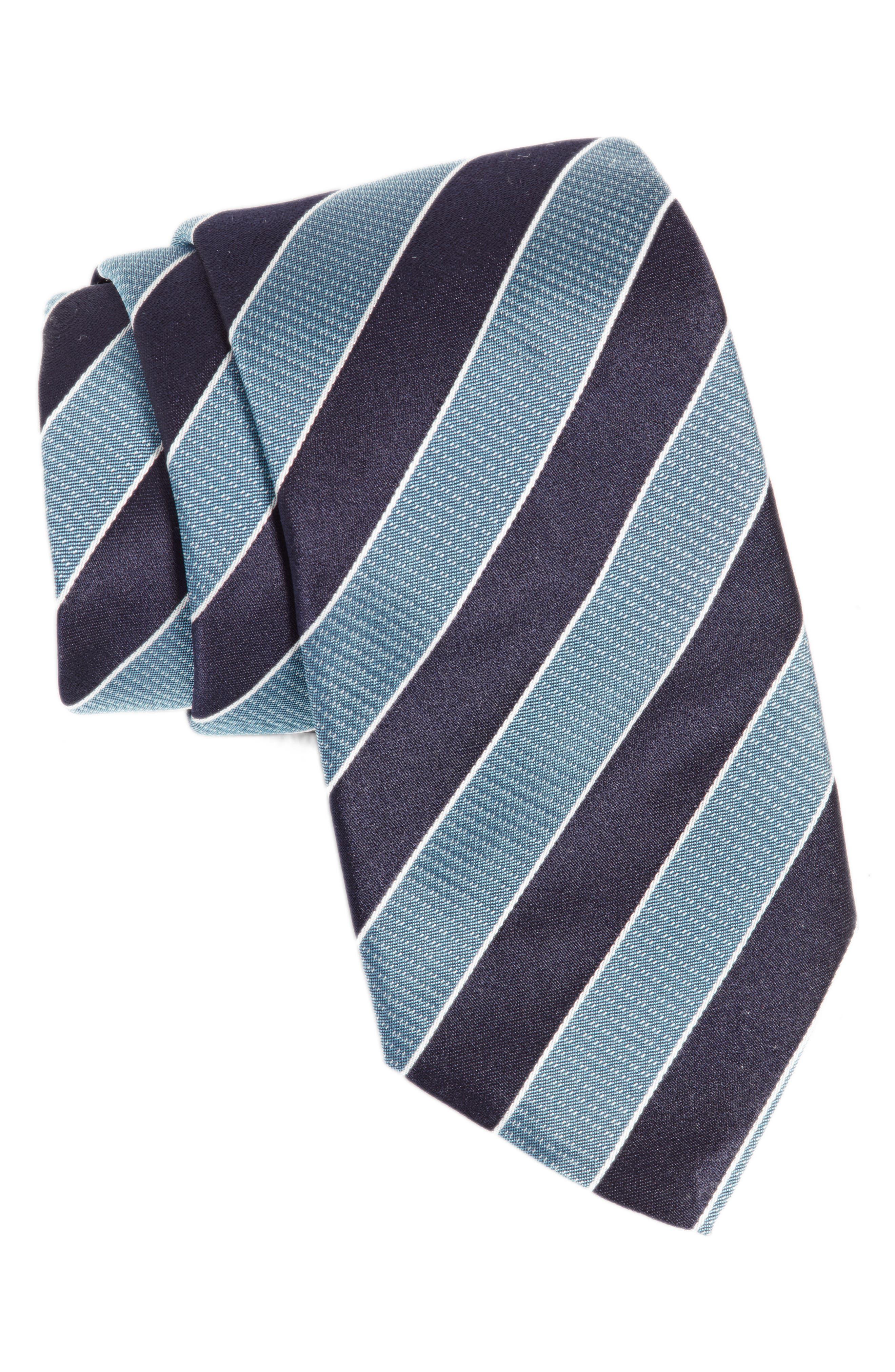 Alternate Image 1 Selected - BOSS Stripe Silk Tie