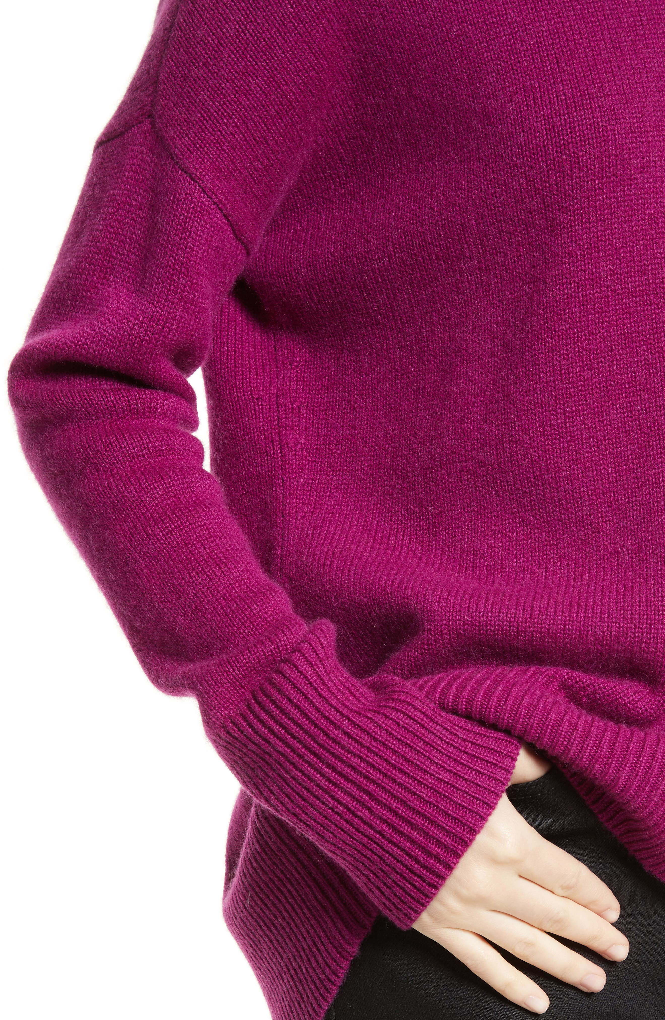 Karenia R Cashmere Sweater,                             Alternate thumbnail 4, color,                             Fuschia