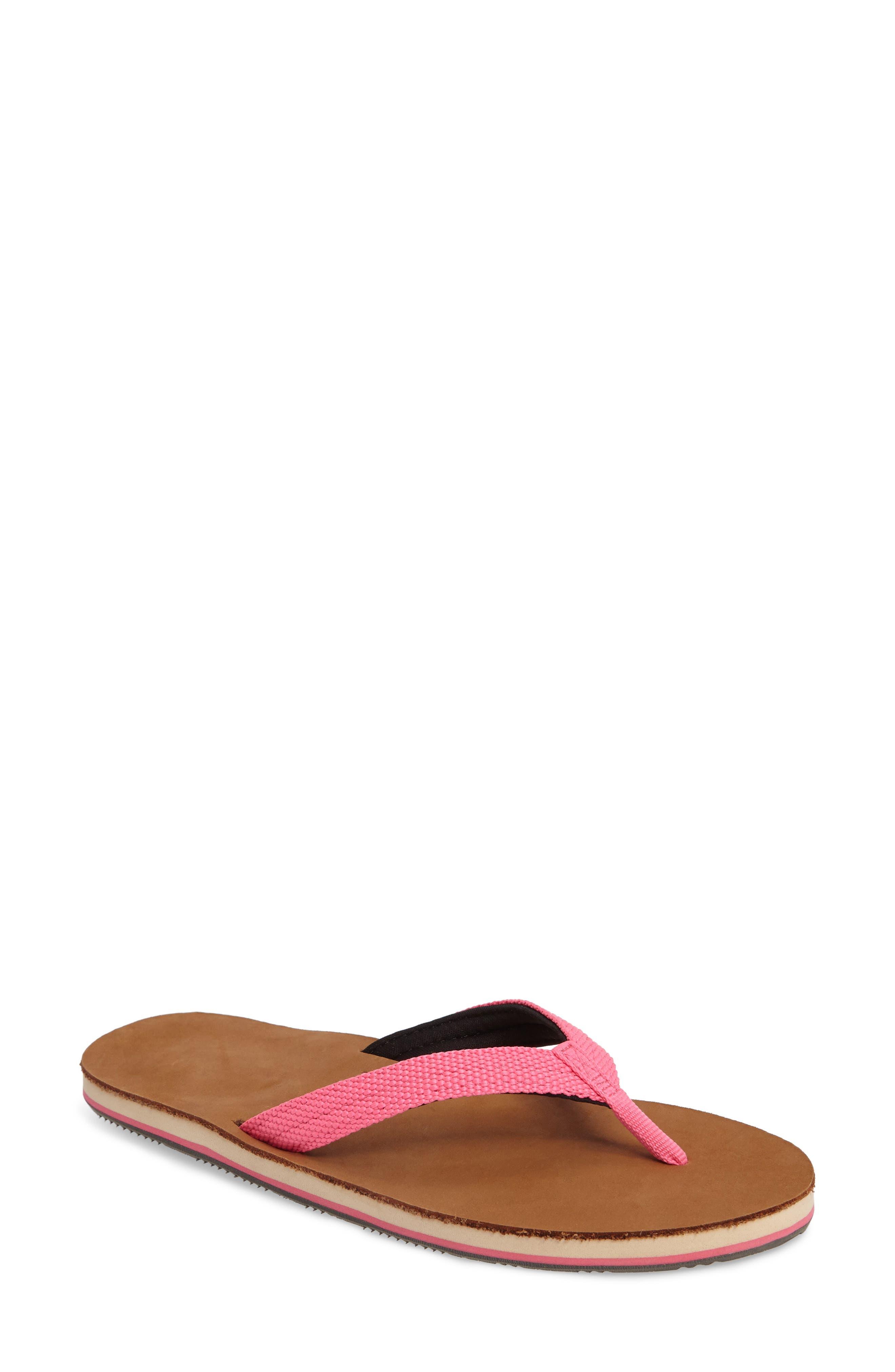 Scouts Flip Flop,                             Main thumbnail 1, color,                             Neon Pink/ Black