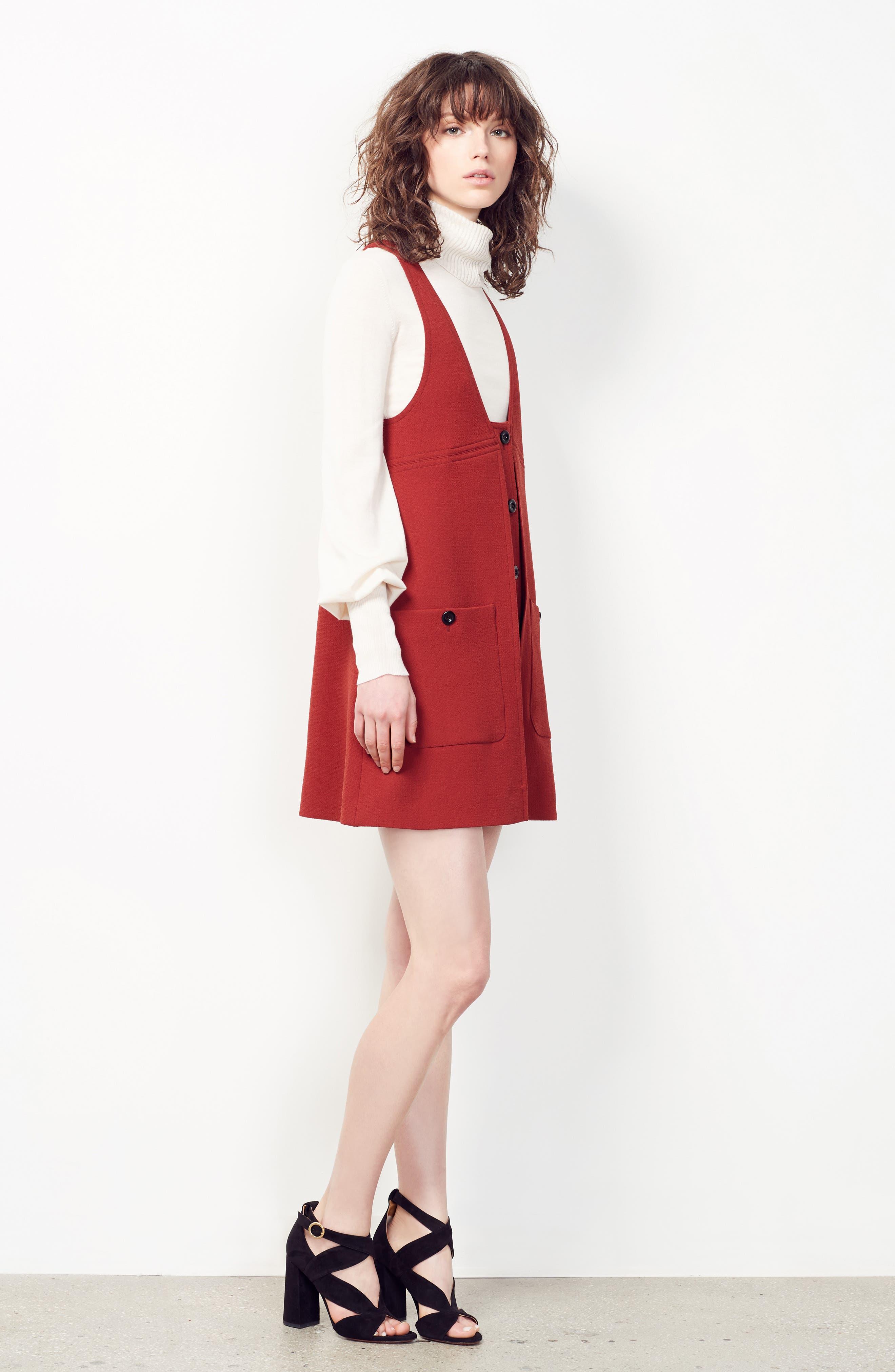 Alternate Image 7  - Chloé Wool Crepe Jumper Dress