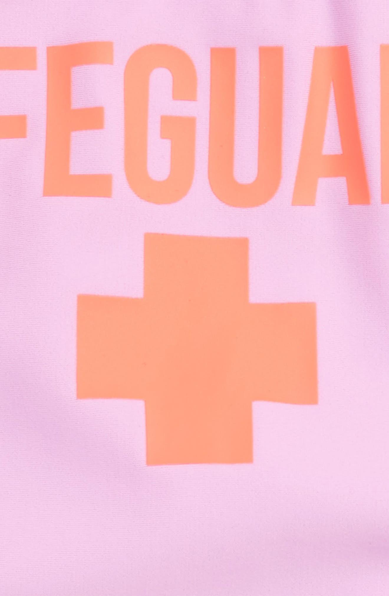Alternate Image 3  - Shade Critters Lifeguard One-Piece Swimsuit (Toddler Girls & Little Girls)
