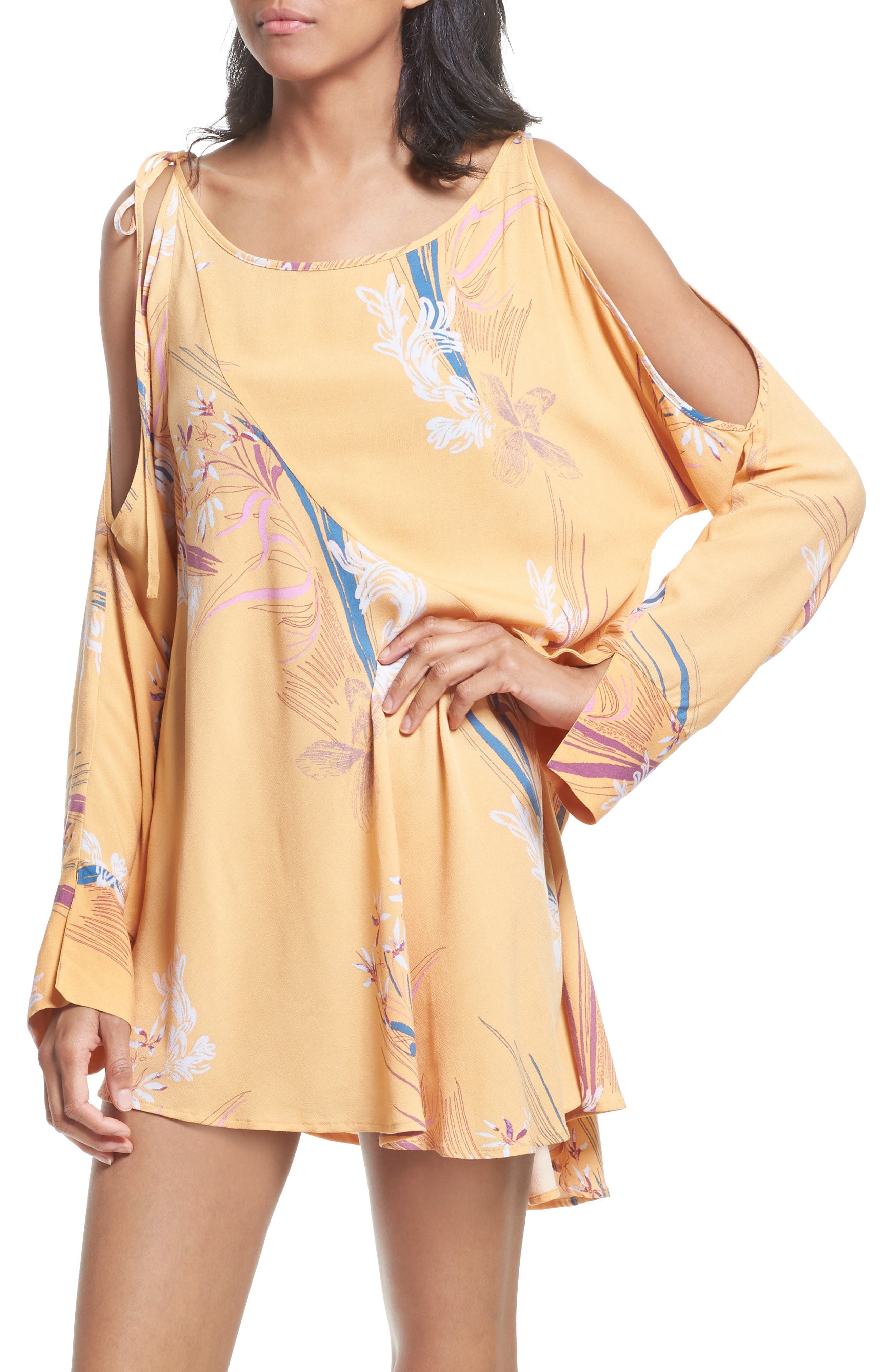 Alternate Image 4  - Free People Clear Skies Cold Shoulder Tunic