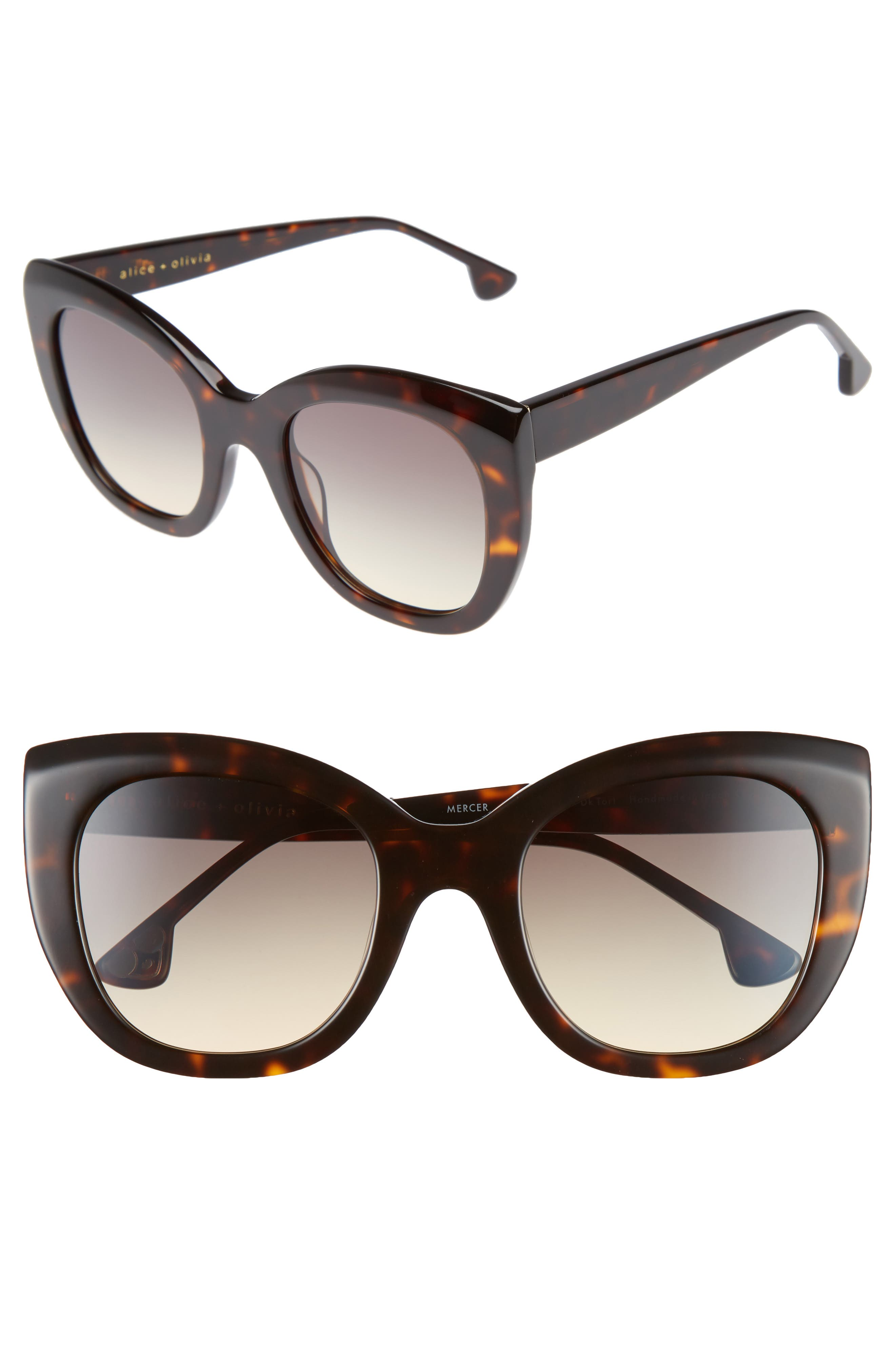 Main Image - Alice + Olivia Mercer 52mm Cat Eye Sunglasses