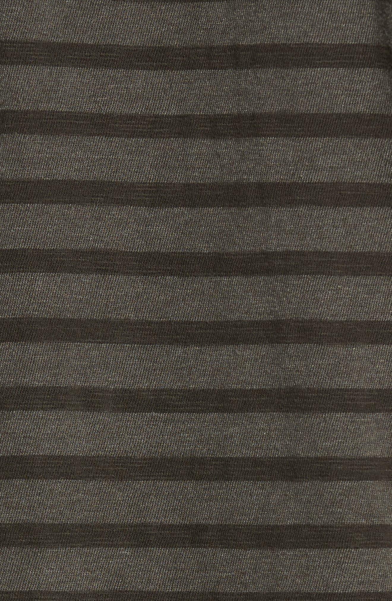 Stripe Hoodie,                             Alternate thumbnail 5, color,                             Olive