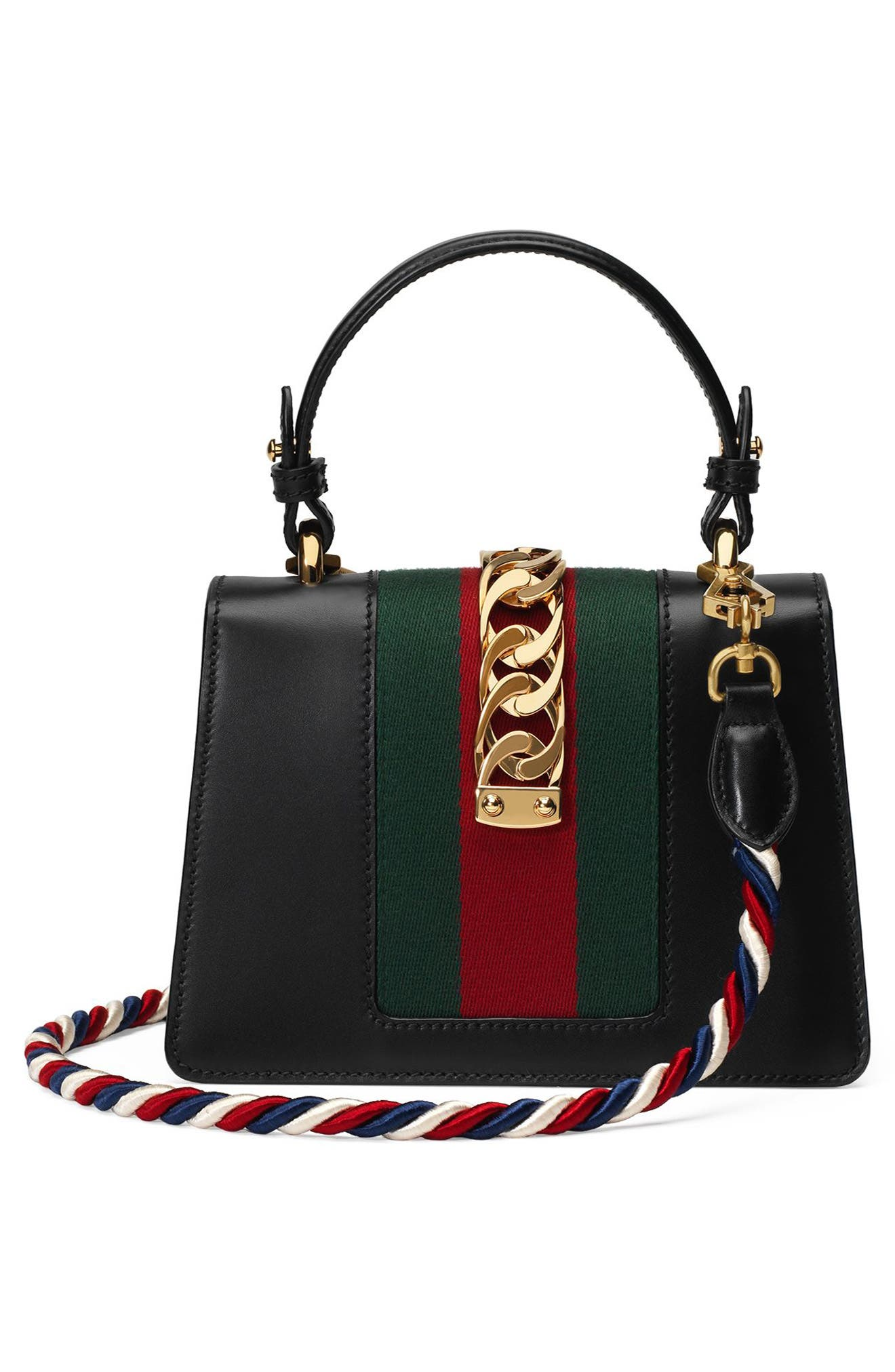 Alternate Image 3  - Gucci Mini Sylvie Top Handle Leather Shoulder Bag
