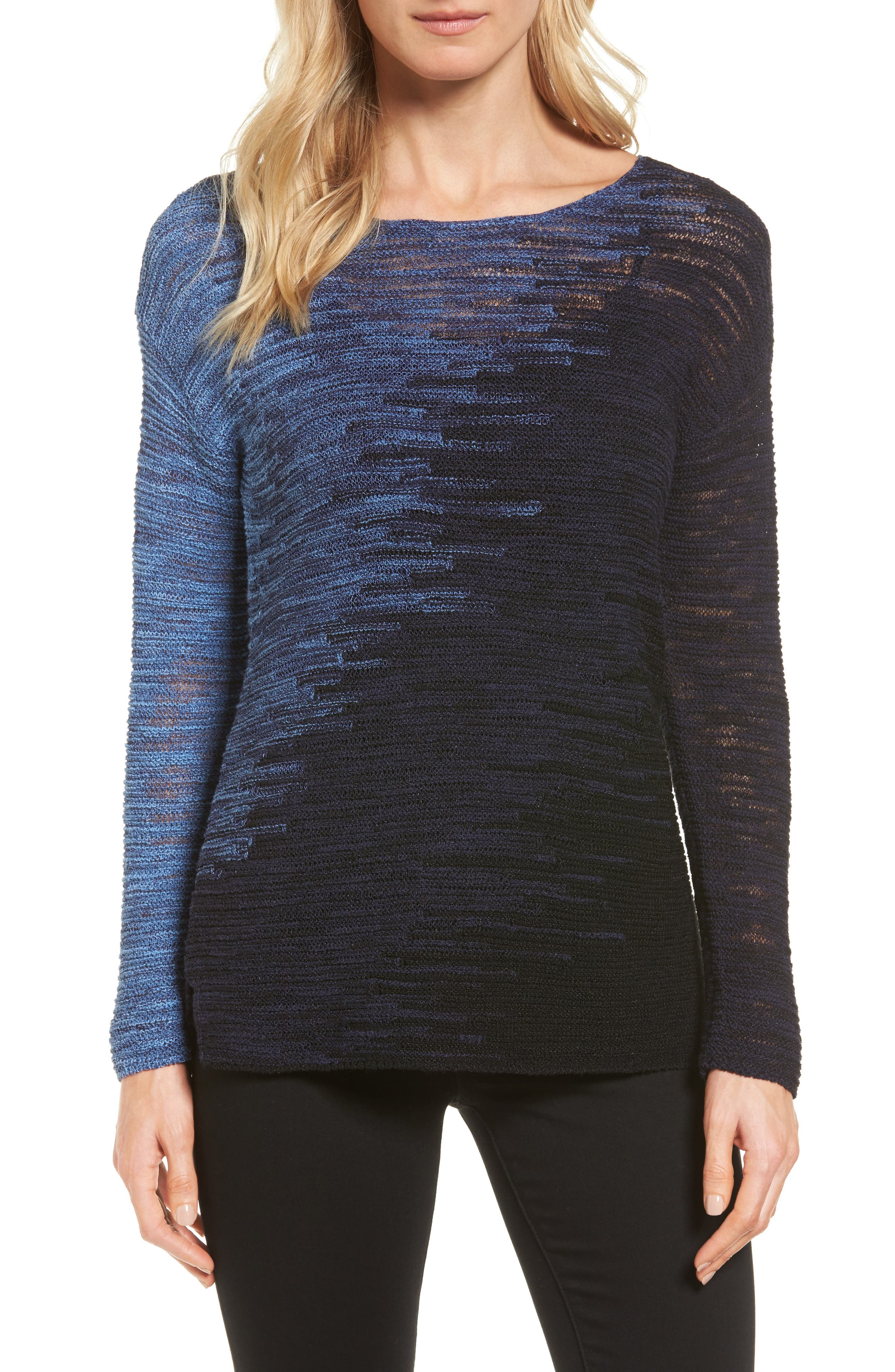 NIC+ZOE Blurred Lines Pullover (Regular & Petite)