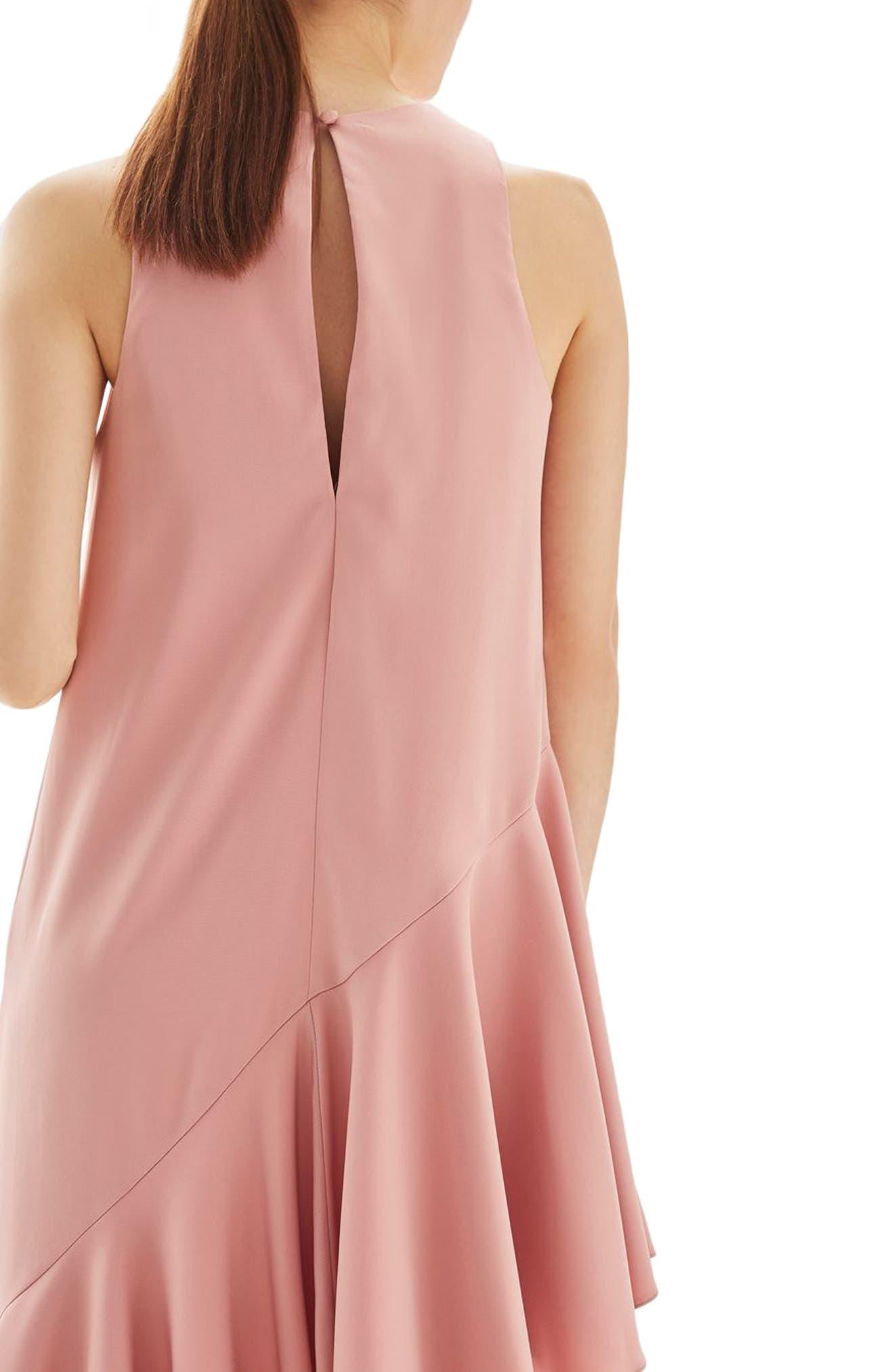 Alternate Image 3  - Topshop Ruffle Asymmetrical Midi Dress