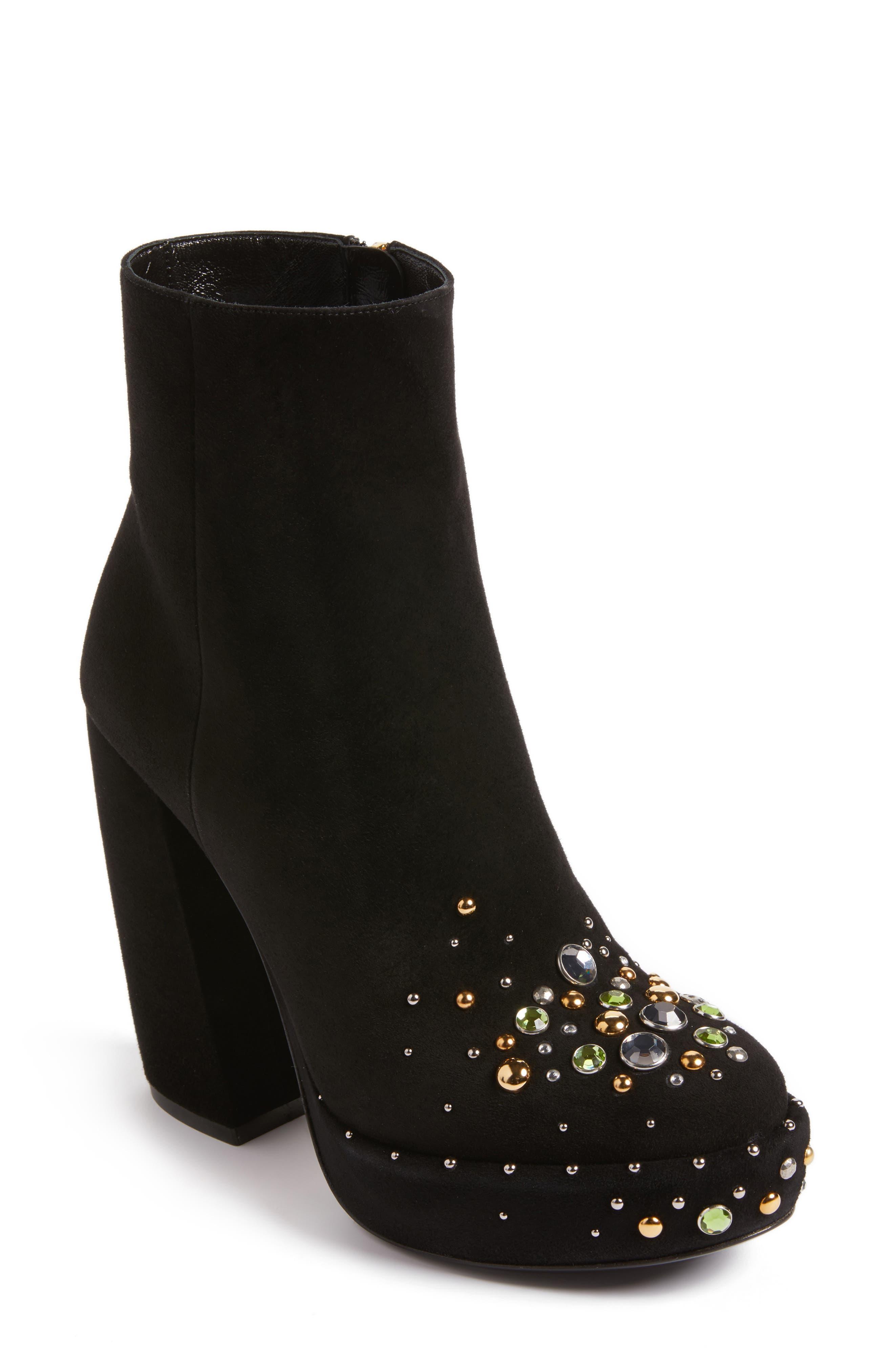Alternate Image 1 Selected - Prada Embellished Platform Boot (Women)