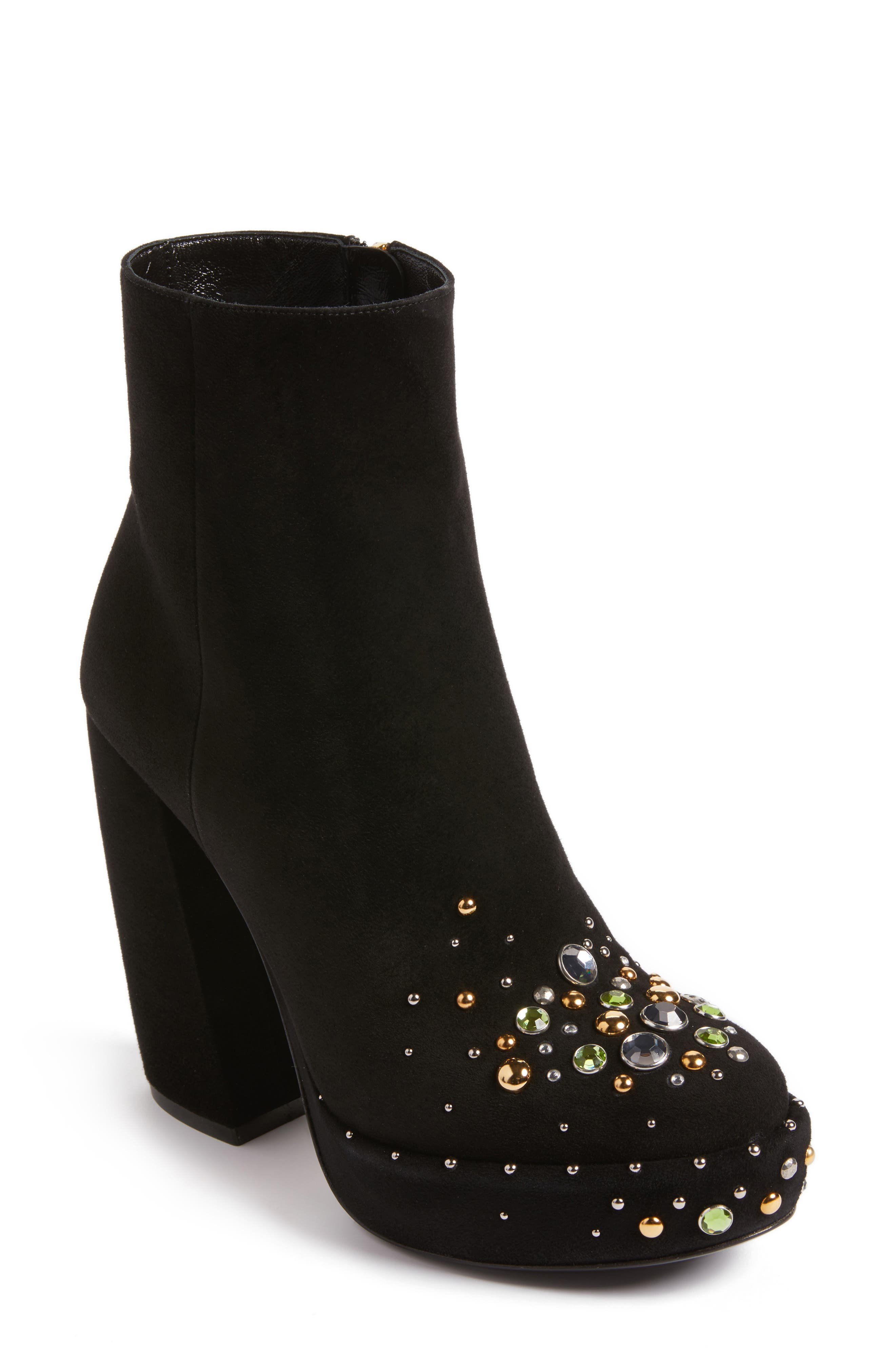 Prada Embellished Platform Boot (Women)