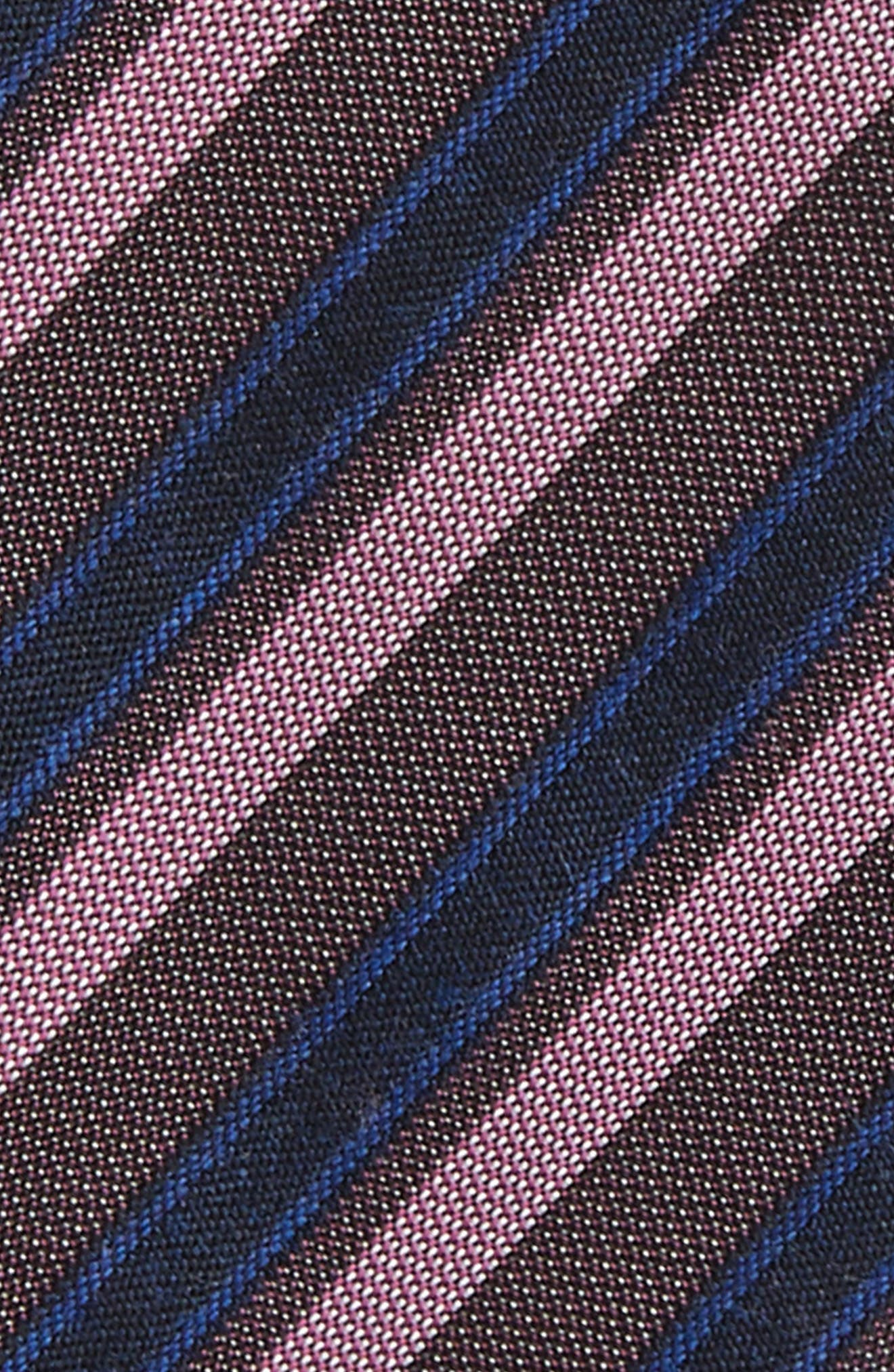 Alternate Image 3  - Calibrate Stripe Silk Bow Tie