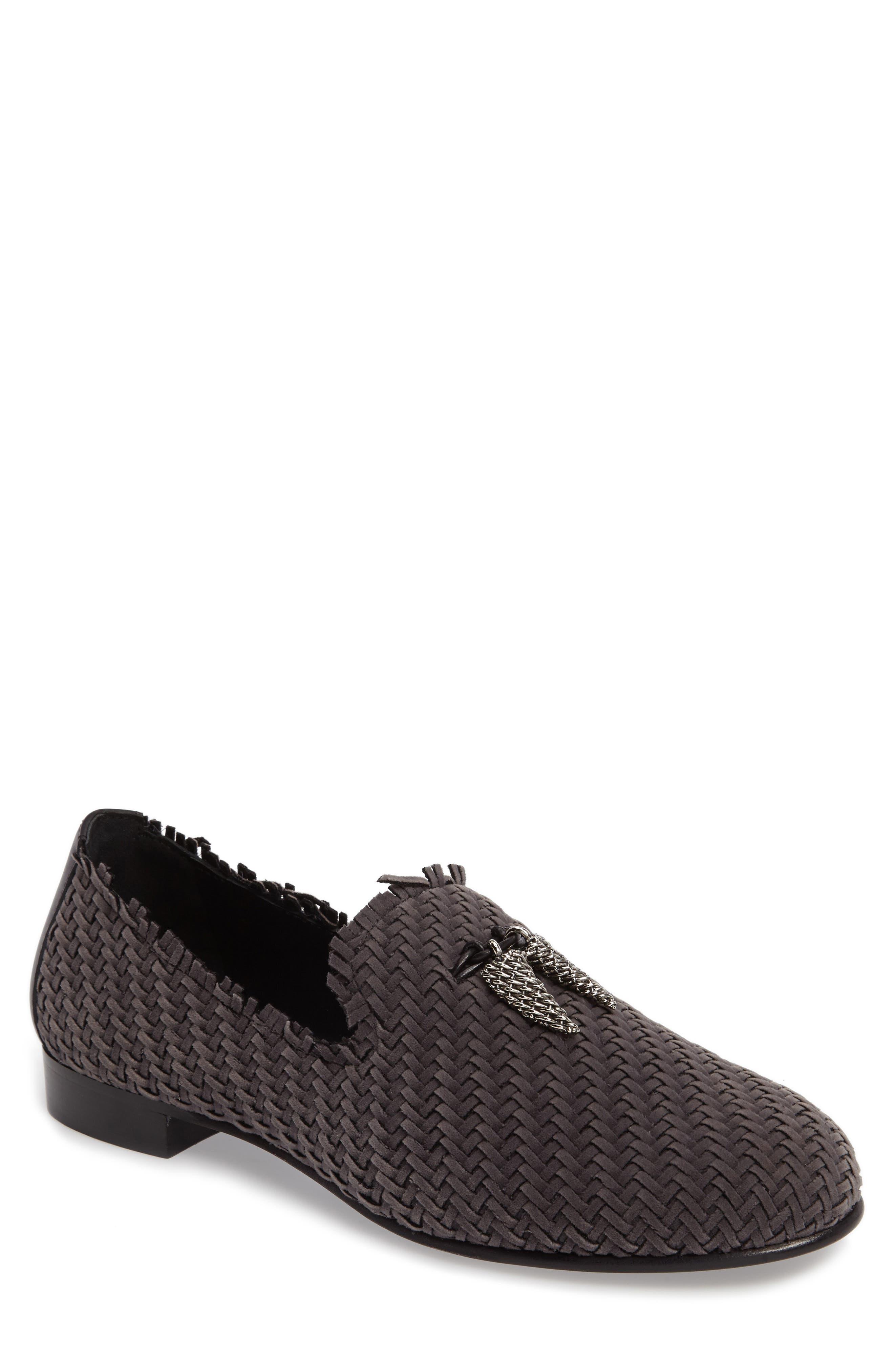 Basketweave Venetian Loafer,                         Main,                         color, Fred Fumo/ Slate Grey