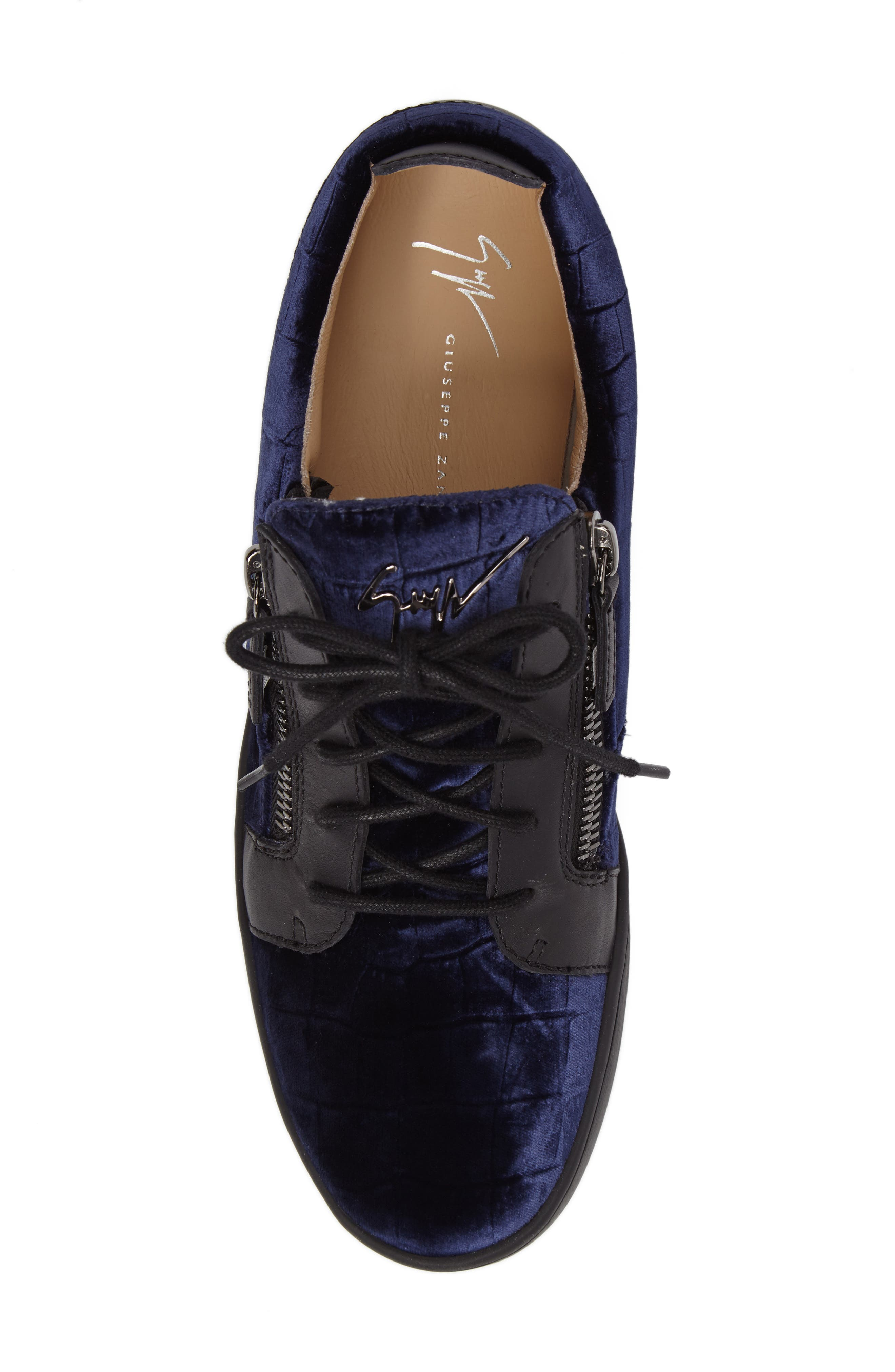 Low Top Sneaker,                             Alternate thumbnail 5, color,                             Navy