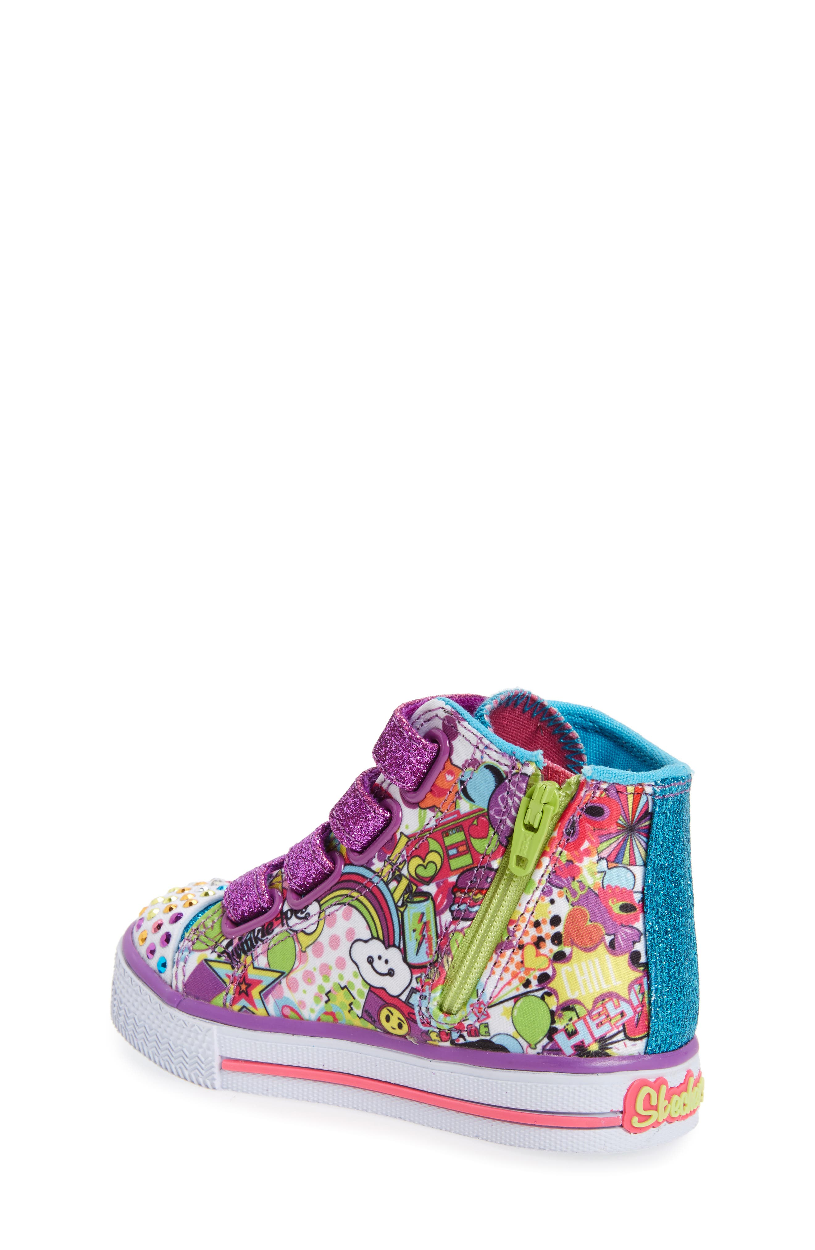 Alternate Image 2  - SKECHERS Twinkle Toes Shuffles Light-Up Sneaker (Walker & Toddler)