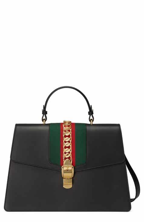 1b32bb45f8bc6f Gucci Maxi Sylvie Top Handle Leather Shoulder Bag