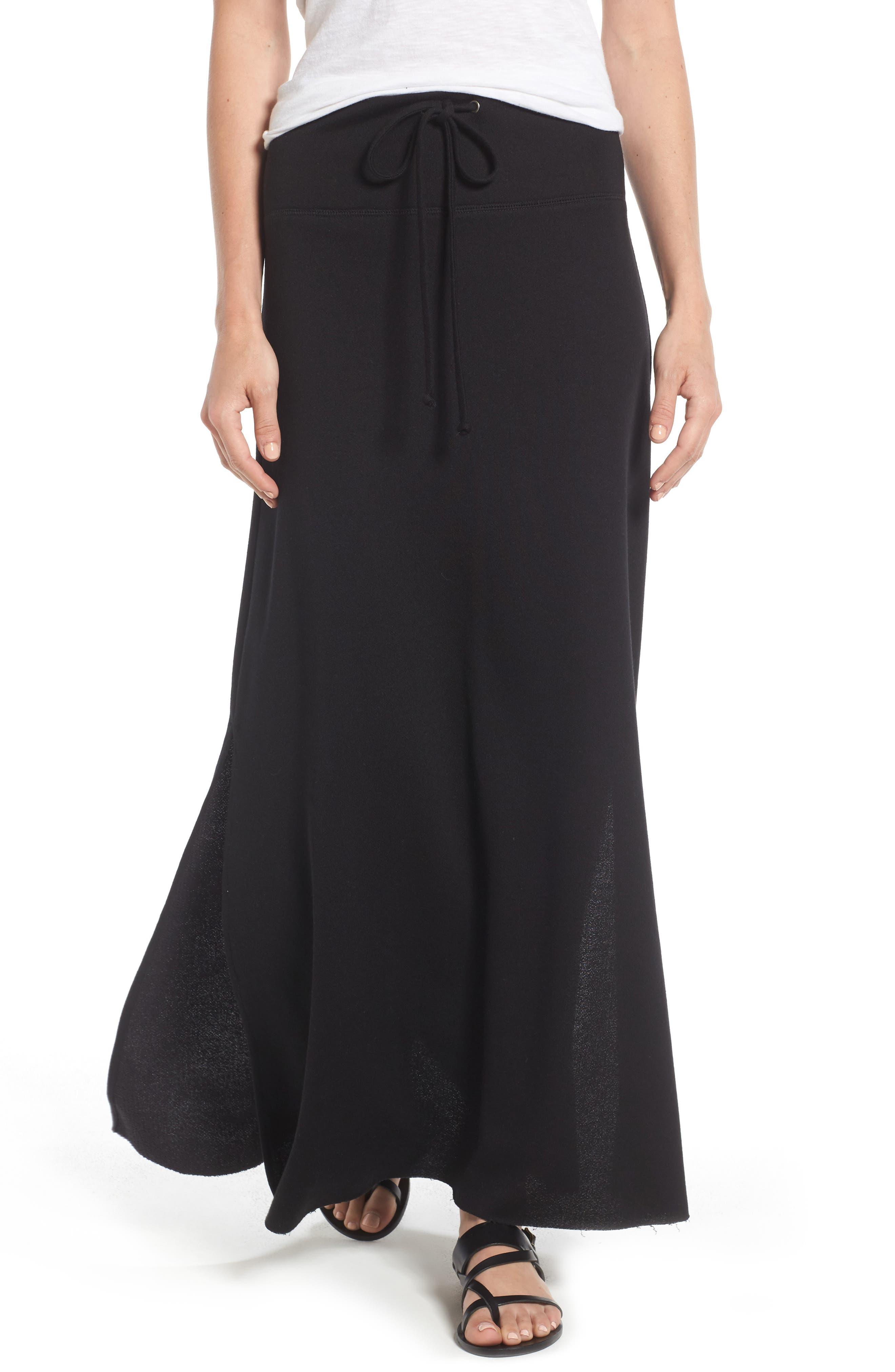 Caslon® Drawstring Knit Maxi Skirt (Regular & Petite)