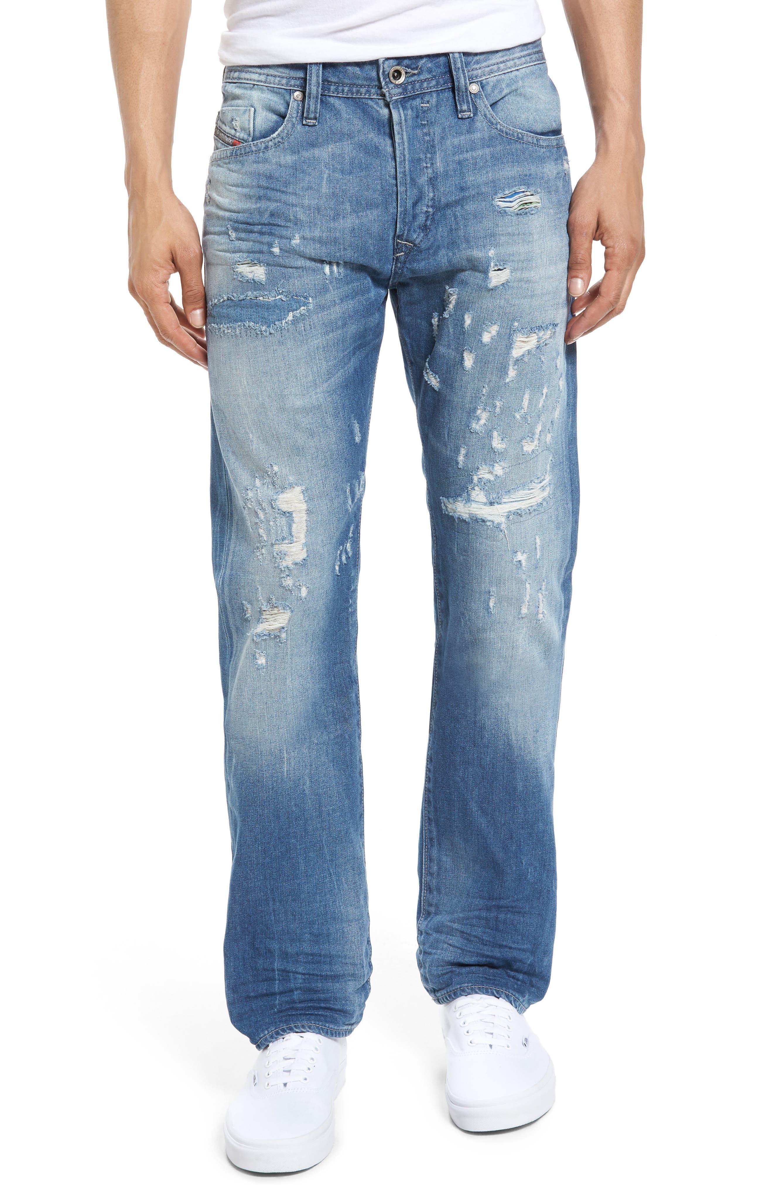 DIESEL Buster Slim Straight Leg Jeans,                         Main,                         color, C84cm