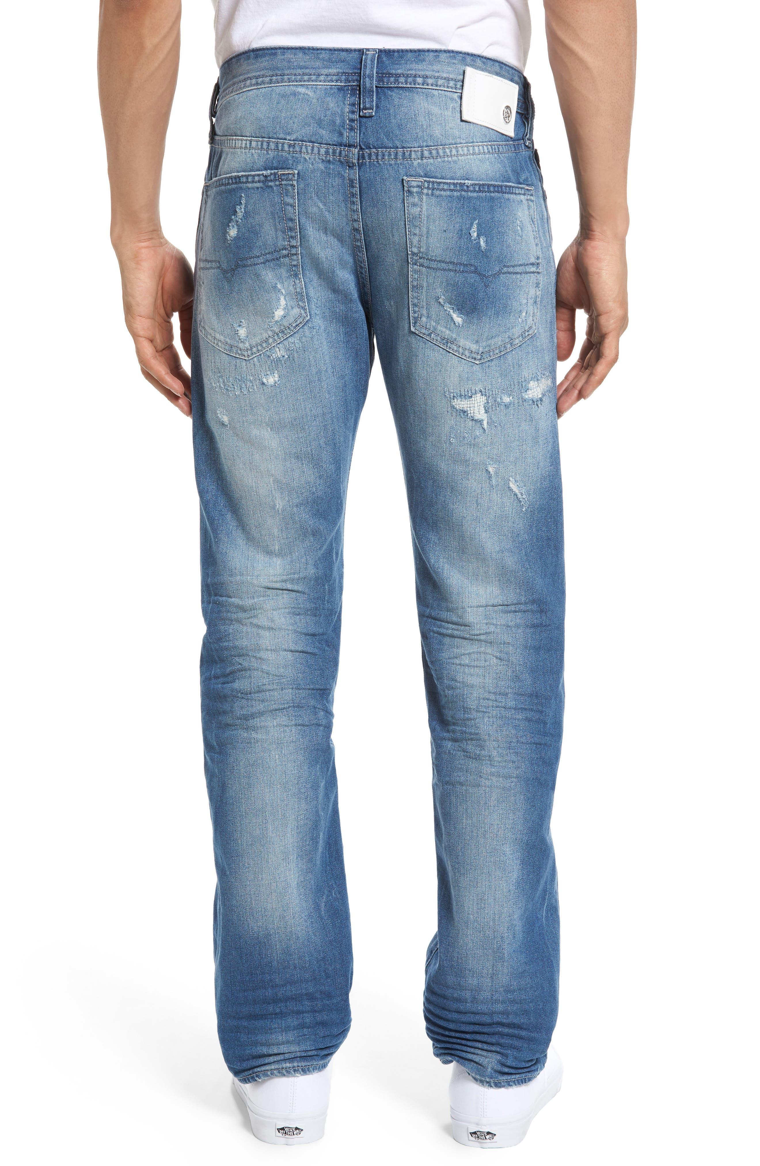 DIESEL Buster Slim Straight Leg Jeans,                             Alternate thumbnail 2, color,                             C84cm