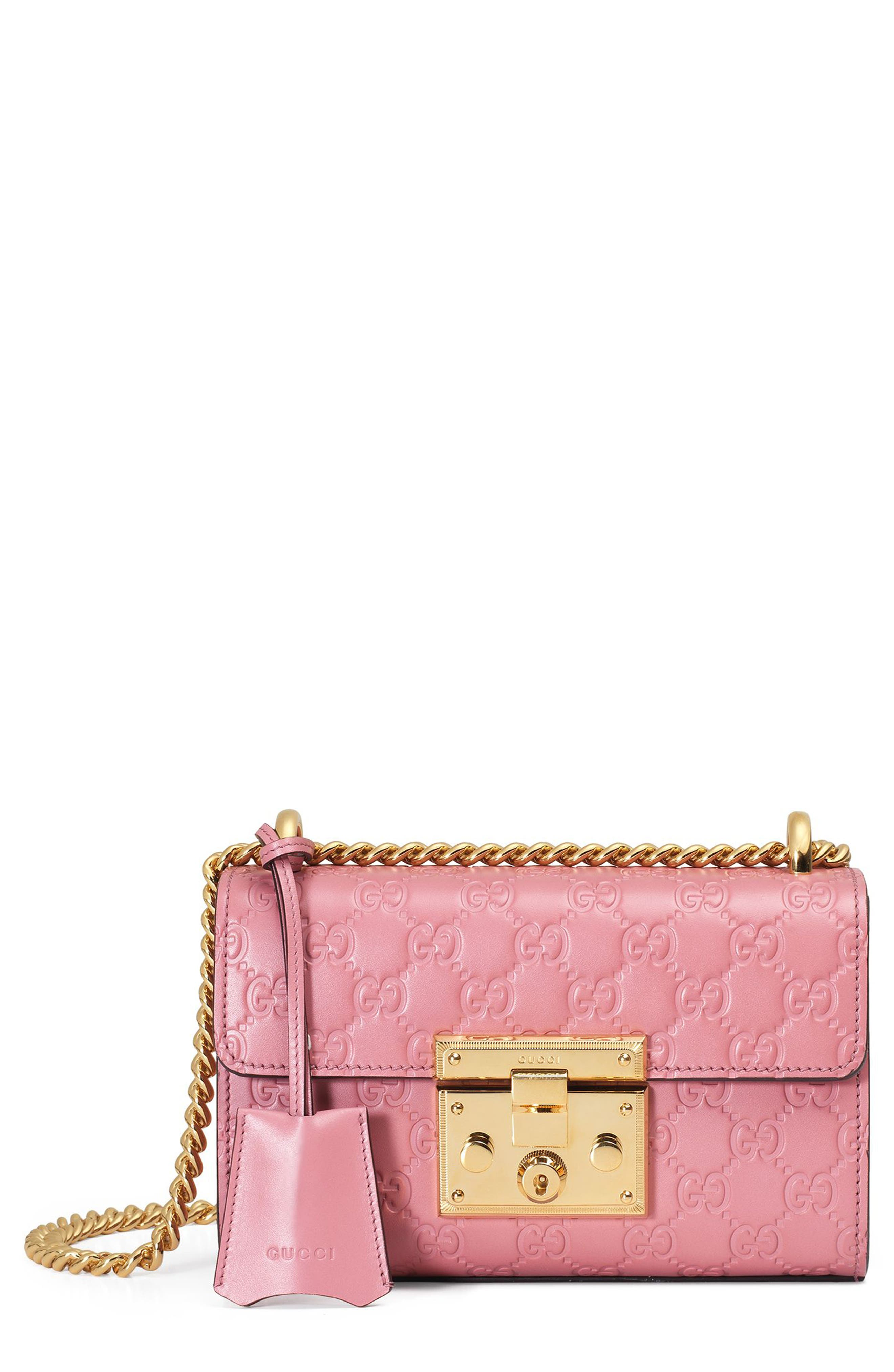GUCCI Small Padlock Signature Leather Shoulder Bag
