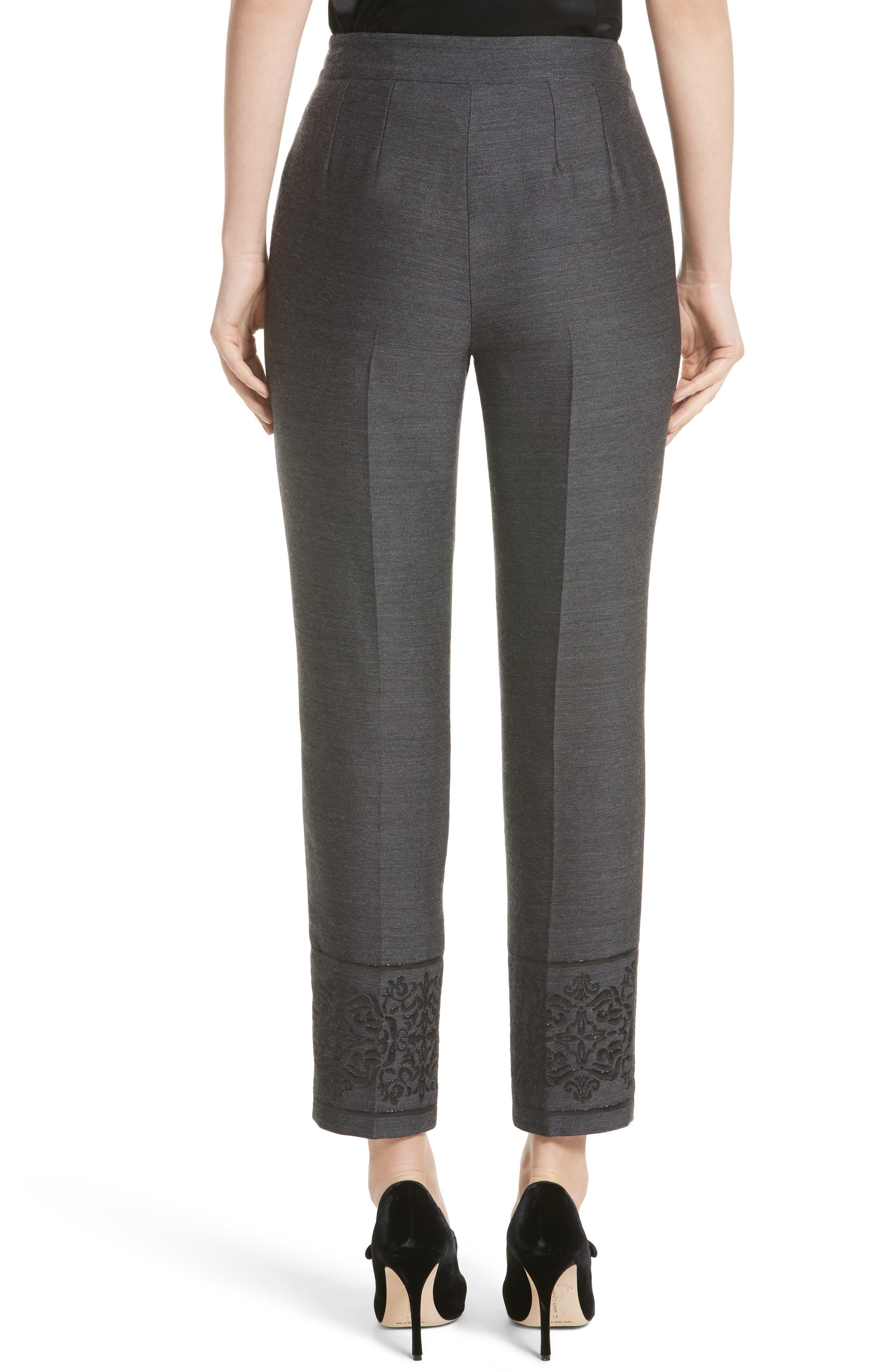 Alternate Image 2  - St. John Collection Shavari Jacquard Crop Pants