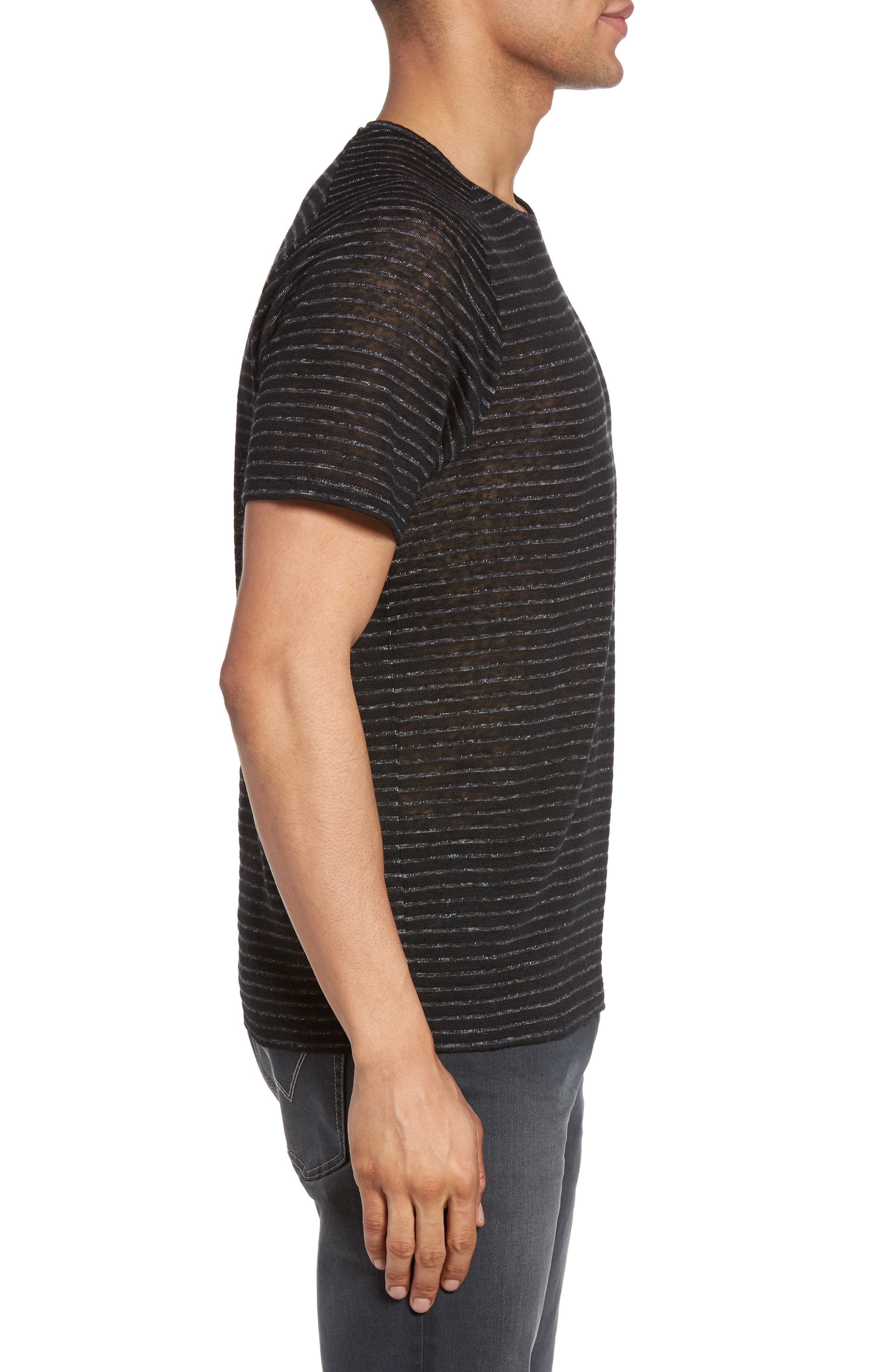 Alternate Image 3  - John Varvatos Star USA Plated Stripe T-Shirt
