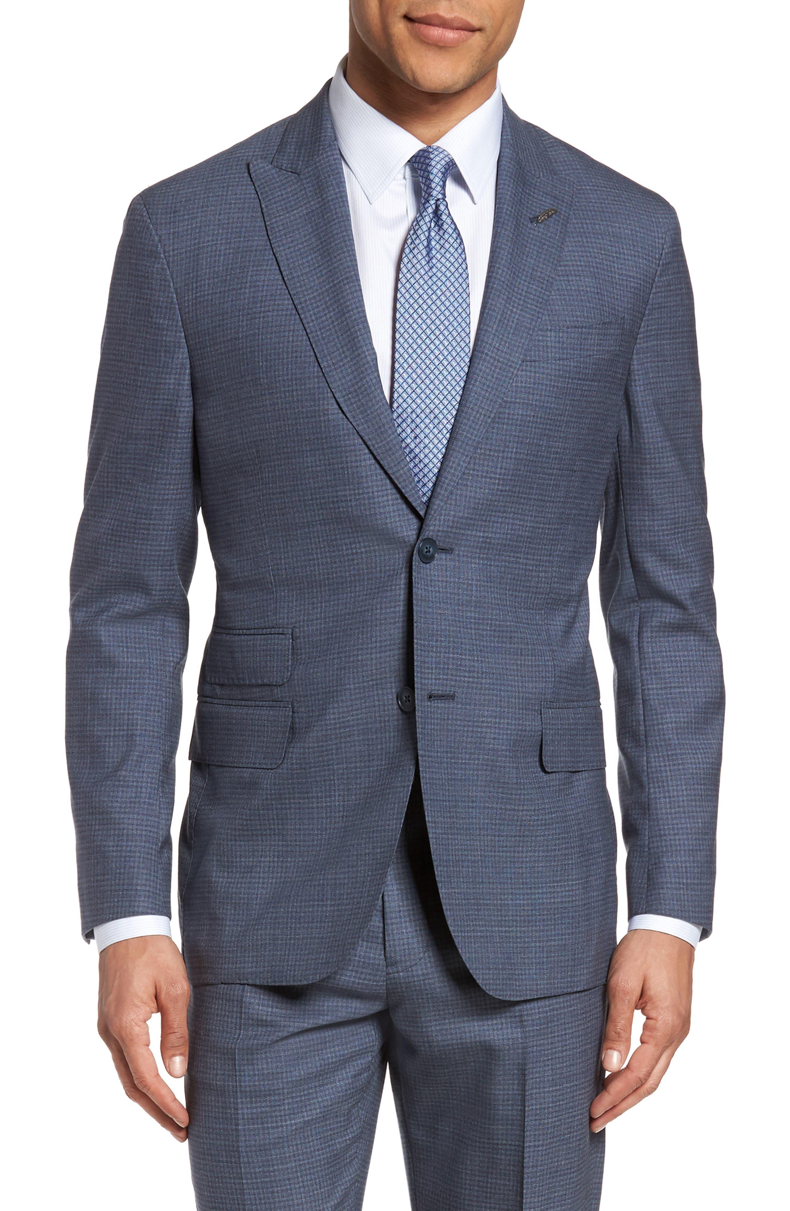 Alternate Image 5  - Michael Bastian Classic Fit Check Wool Suit