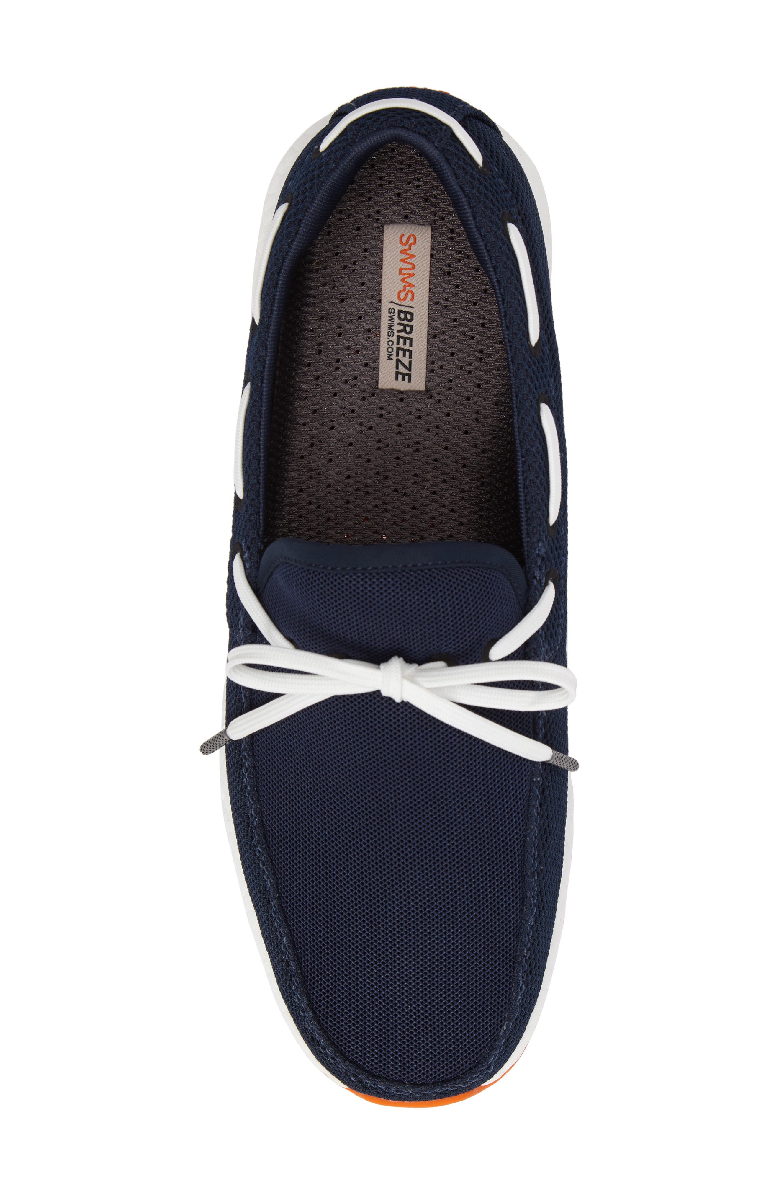 Breeze Loafer,                             Alternate thumbnail 5, color,                             Navy/ Orange Fabric