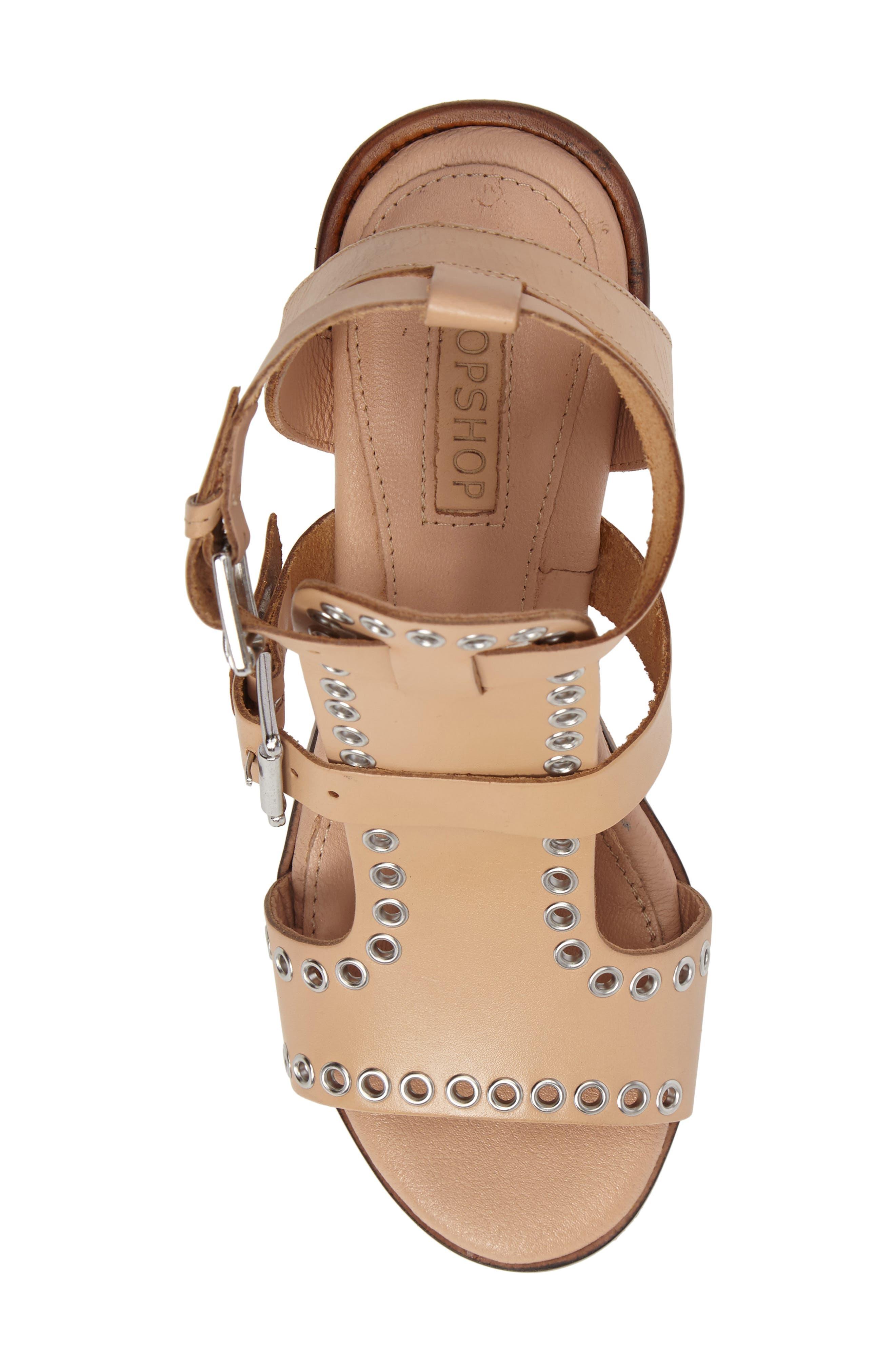 Alternate Image 5  - Topshop Vienna Grommet Sandal (Women)