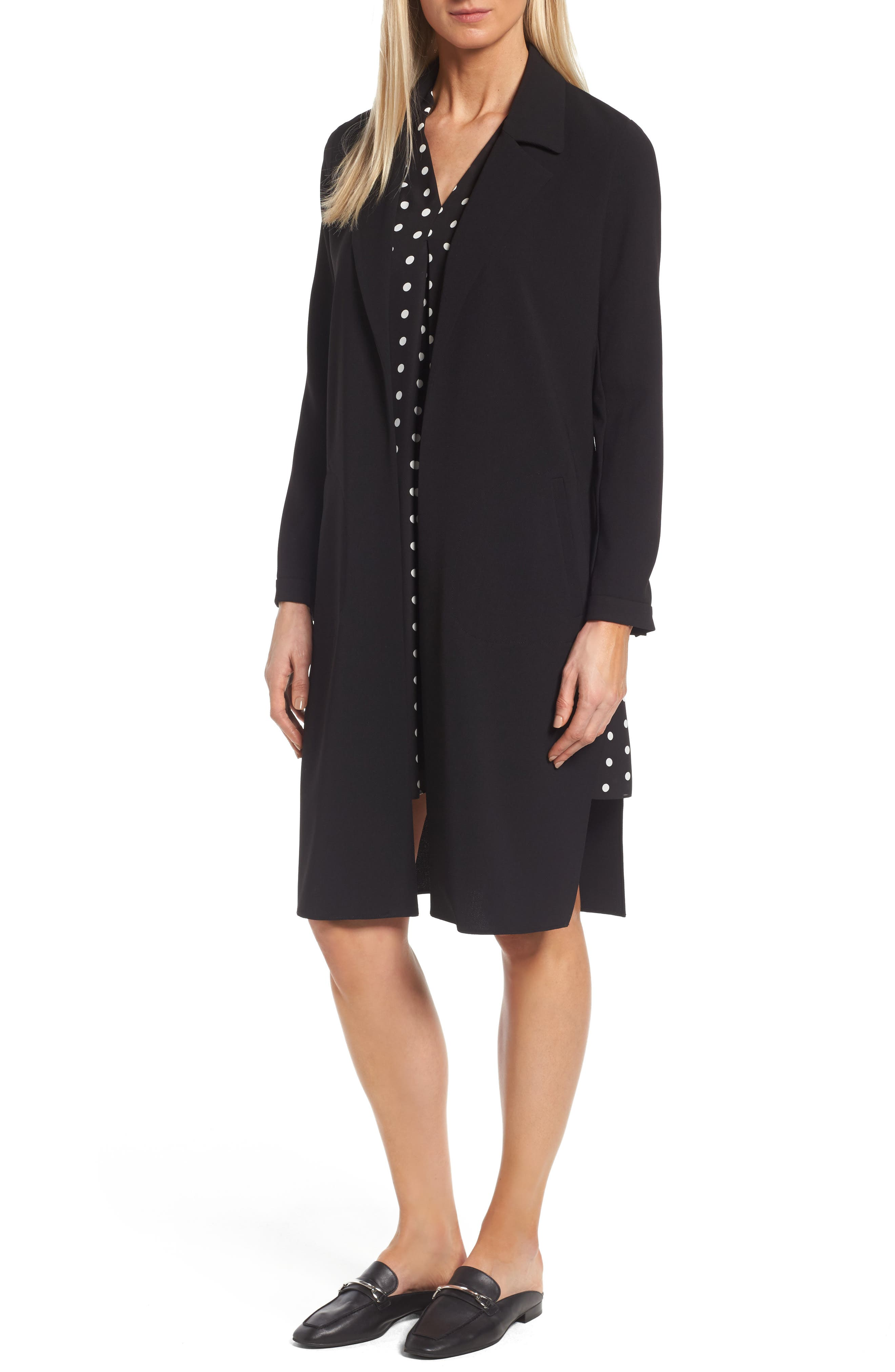 VINCE CAMUTO Texture Base Open Front Duster