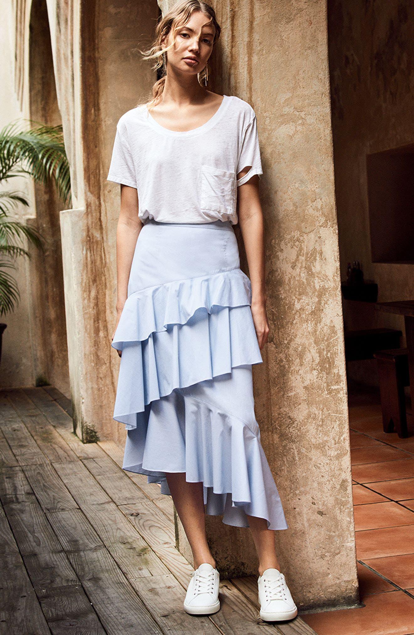 Alternate Image 2  - Chelsea28 Ruffle Midi Skirt