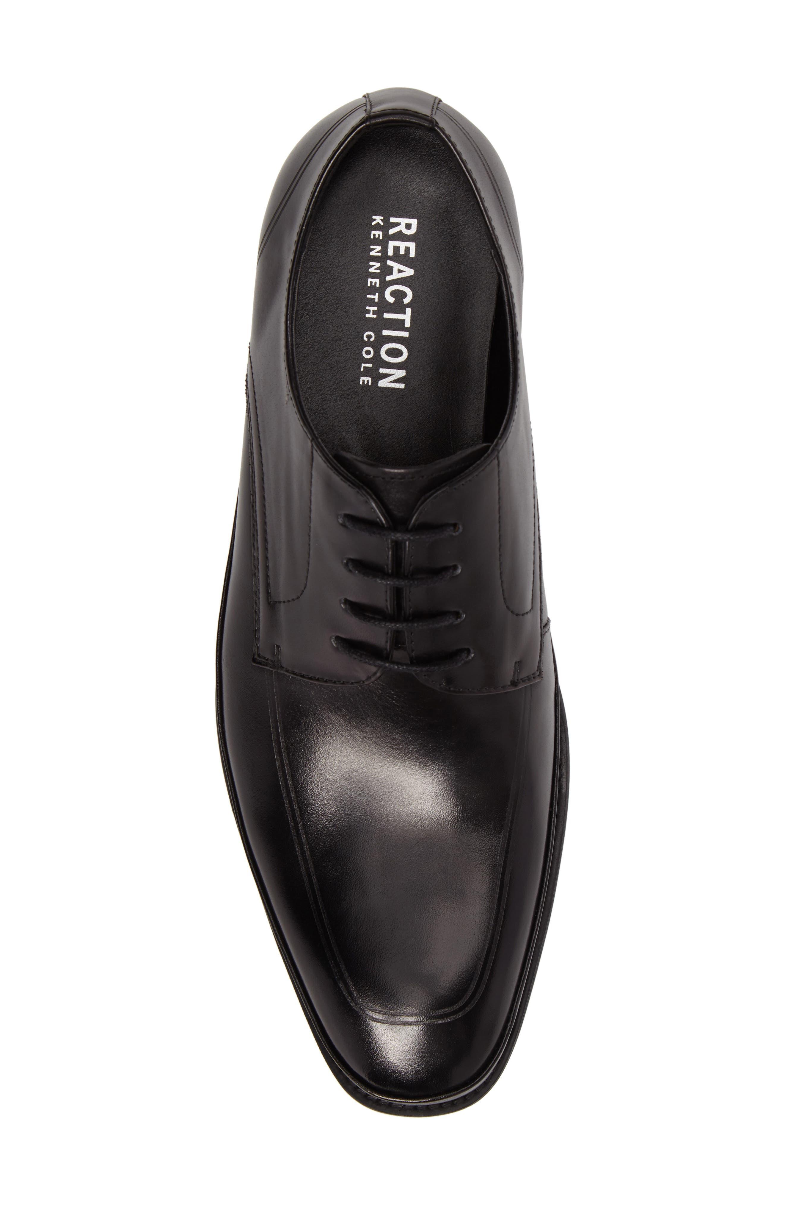 Brick Free Plain Toe Derby,                             Alternate thumbnail 5, color,                             Black Leather