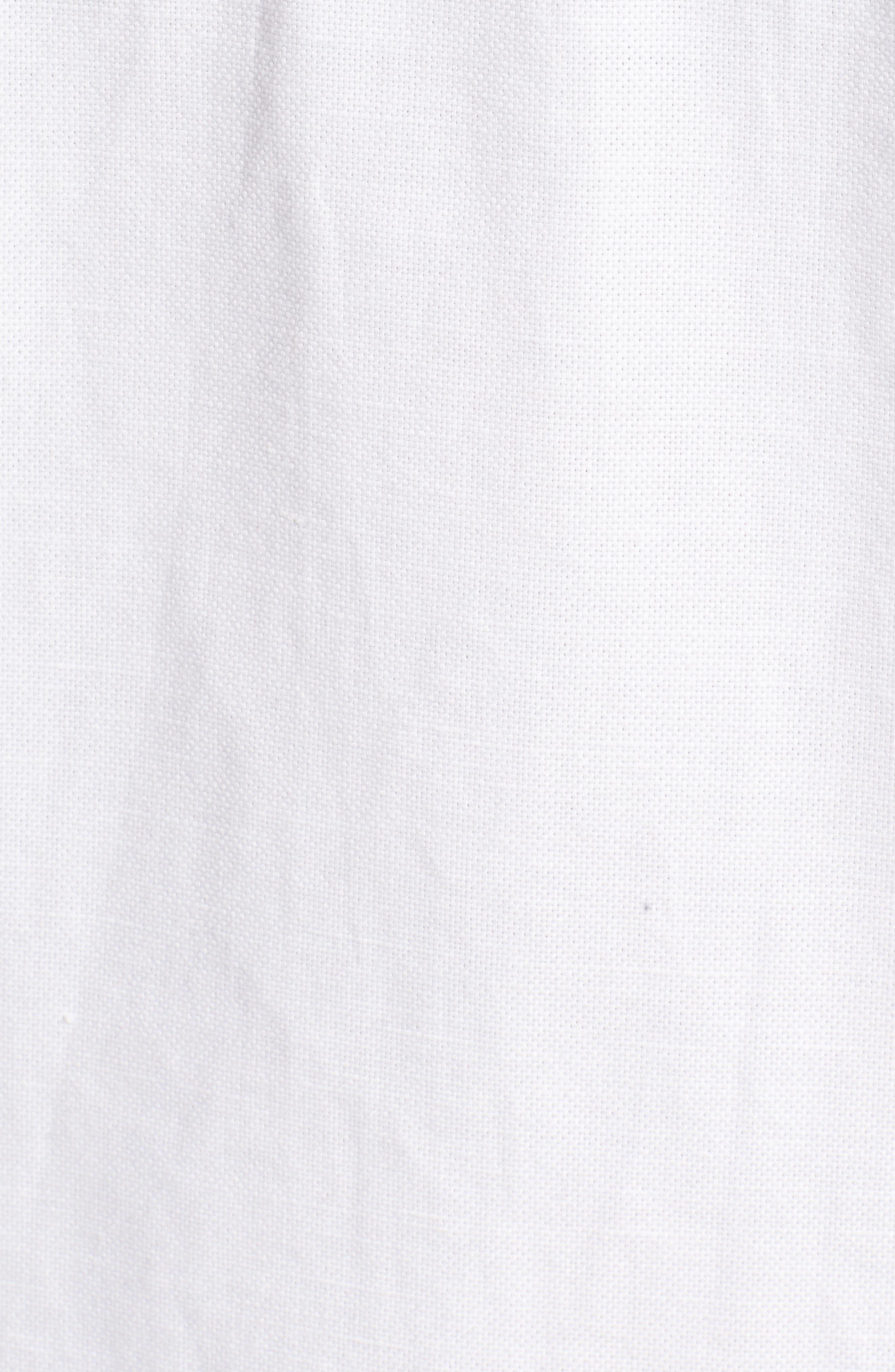 Embroidered Linen & Cotton Shift Dress,                             Alternate thumbnail 5, color,                             Bedouin Sand