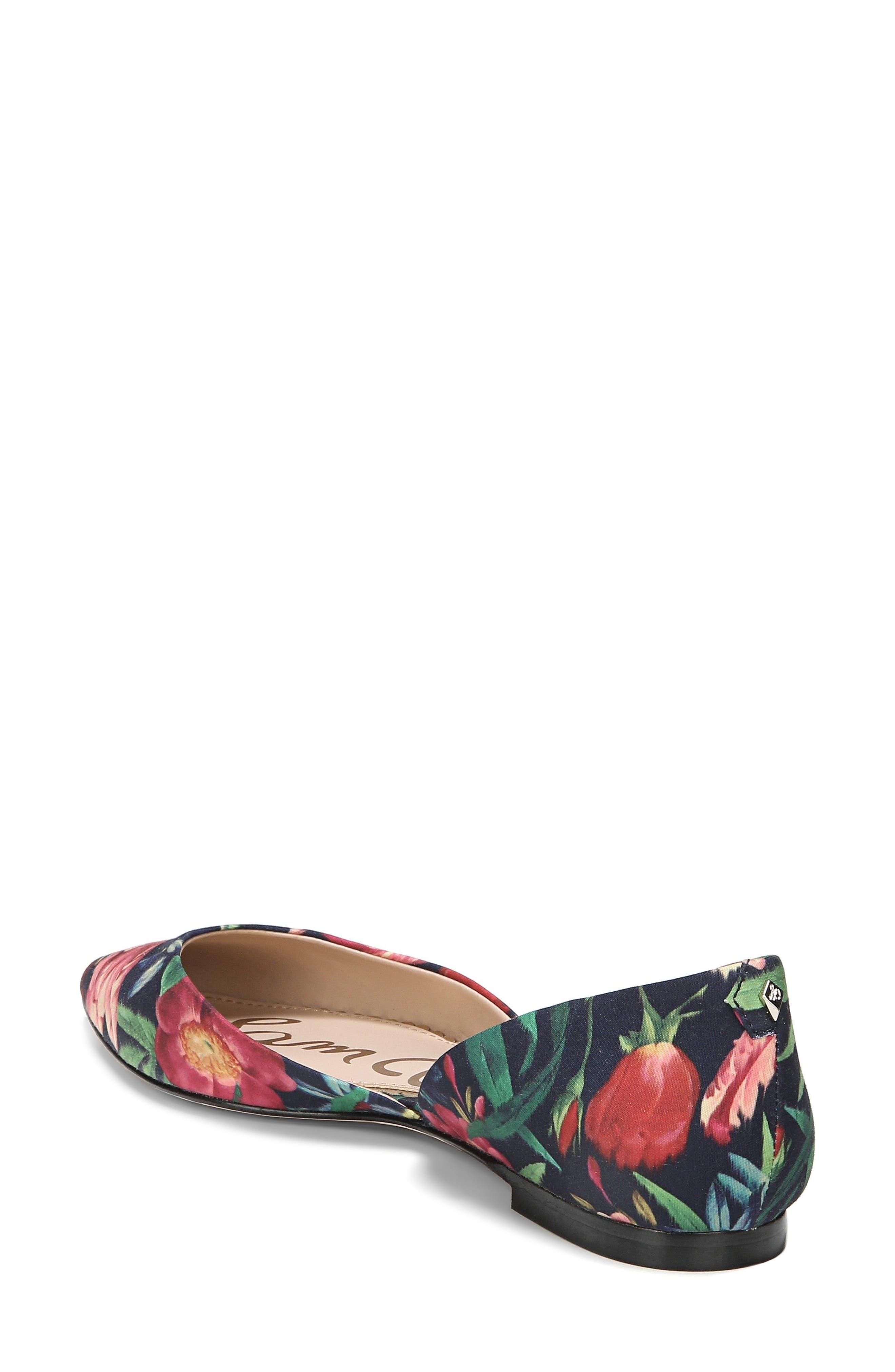 Rodney Pointy Toe d'Orsay Flat,                             Alternate thumbnail 2, color,                             Navy Multi Fabric