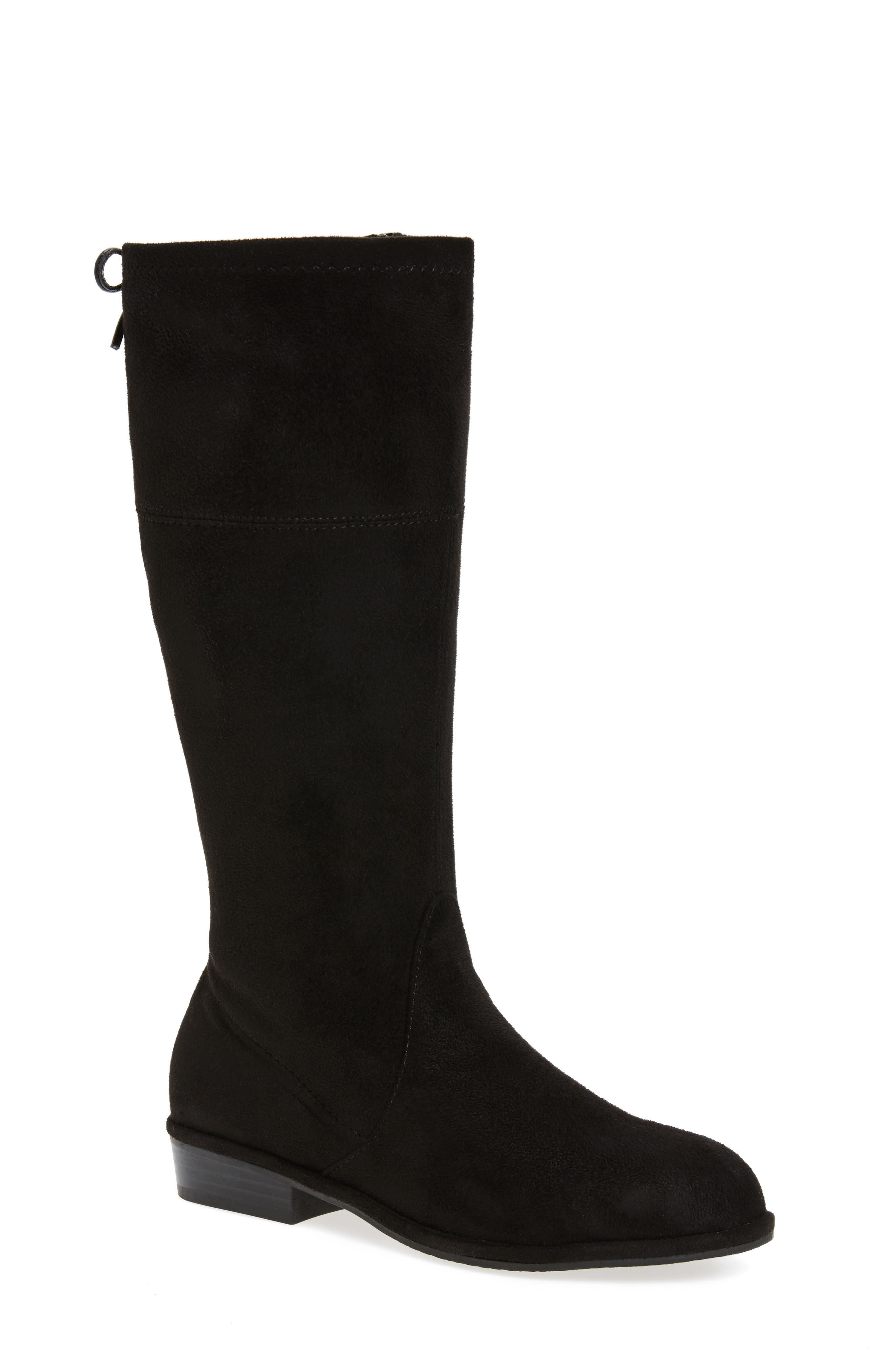 Alternate Image 1 Selected - Stuart Weitzman Lowland Bow Riding Boot (Toddler, Little Kid & Big Kid)