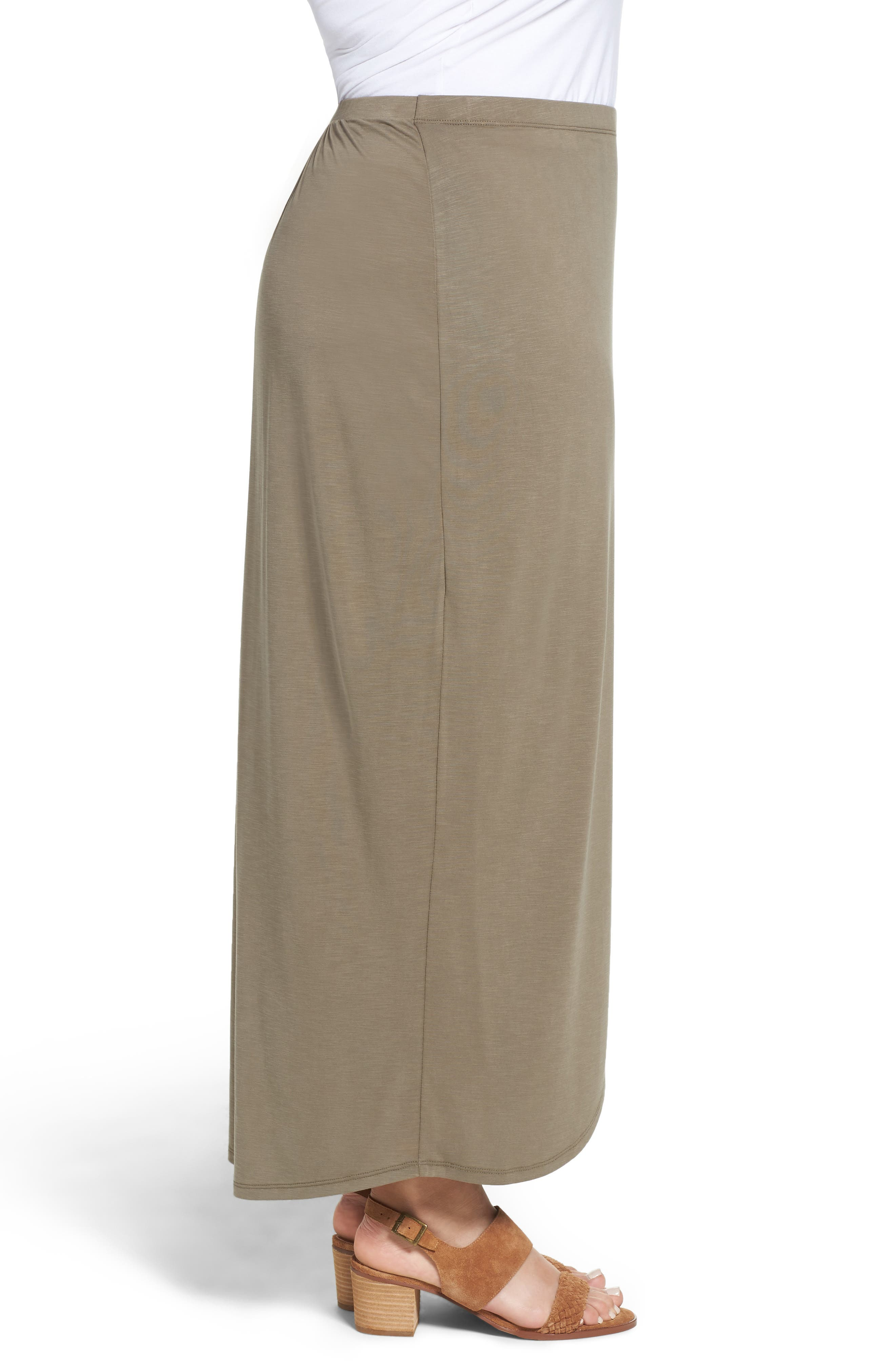 Alternate Image 3  - NIC+ZOE Boardwalk Knit Wrap Maxi Skirt (Plus Size)