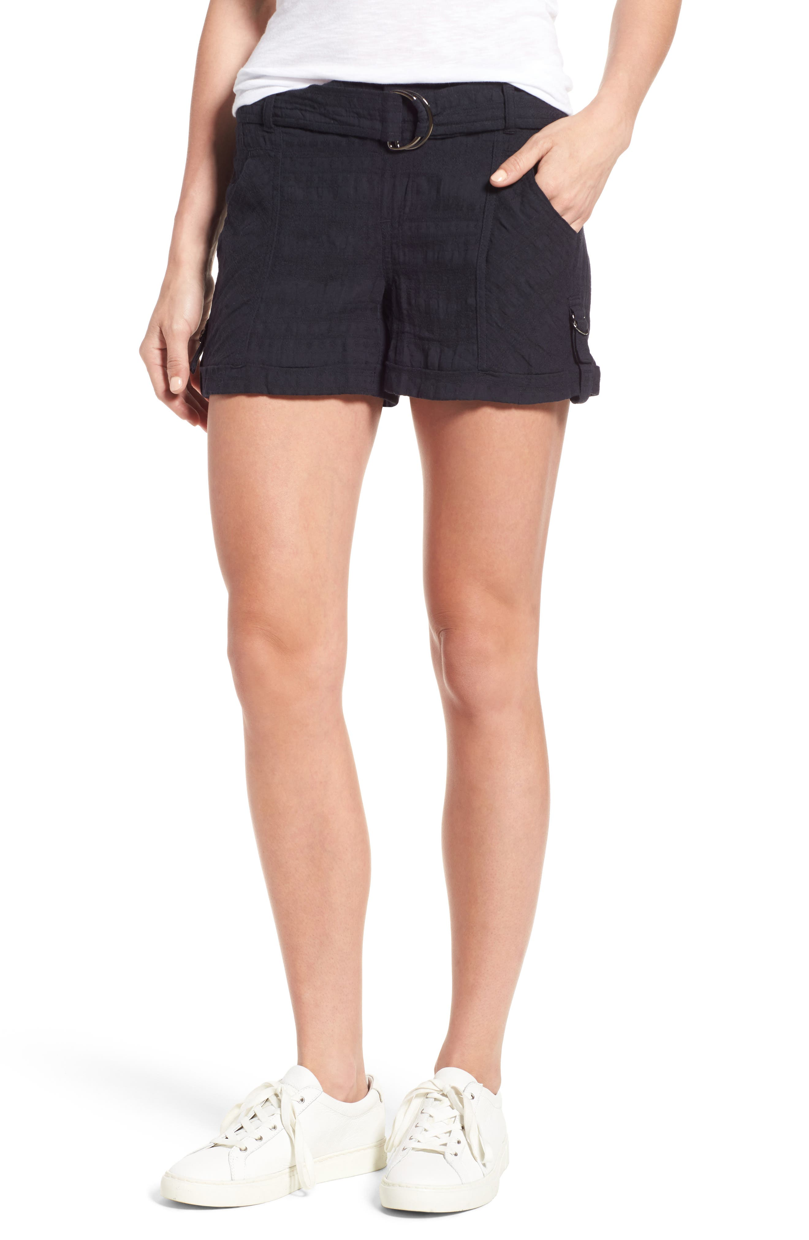 Main Image - Wit & Wisdom D-Ring Belted Shorts (Nordstrom Exclusive)