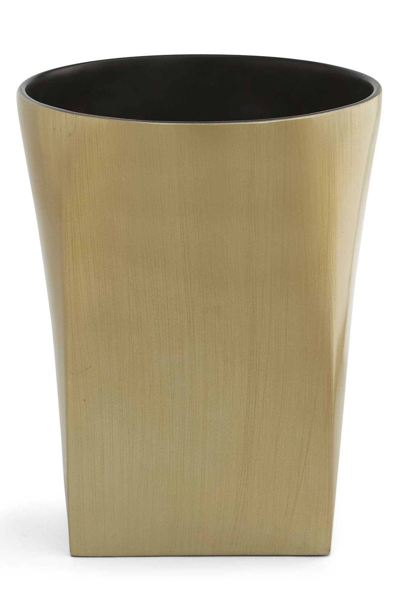 Cooper Wastebasket,                         Main,                         color, Brushed Gold