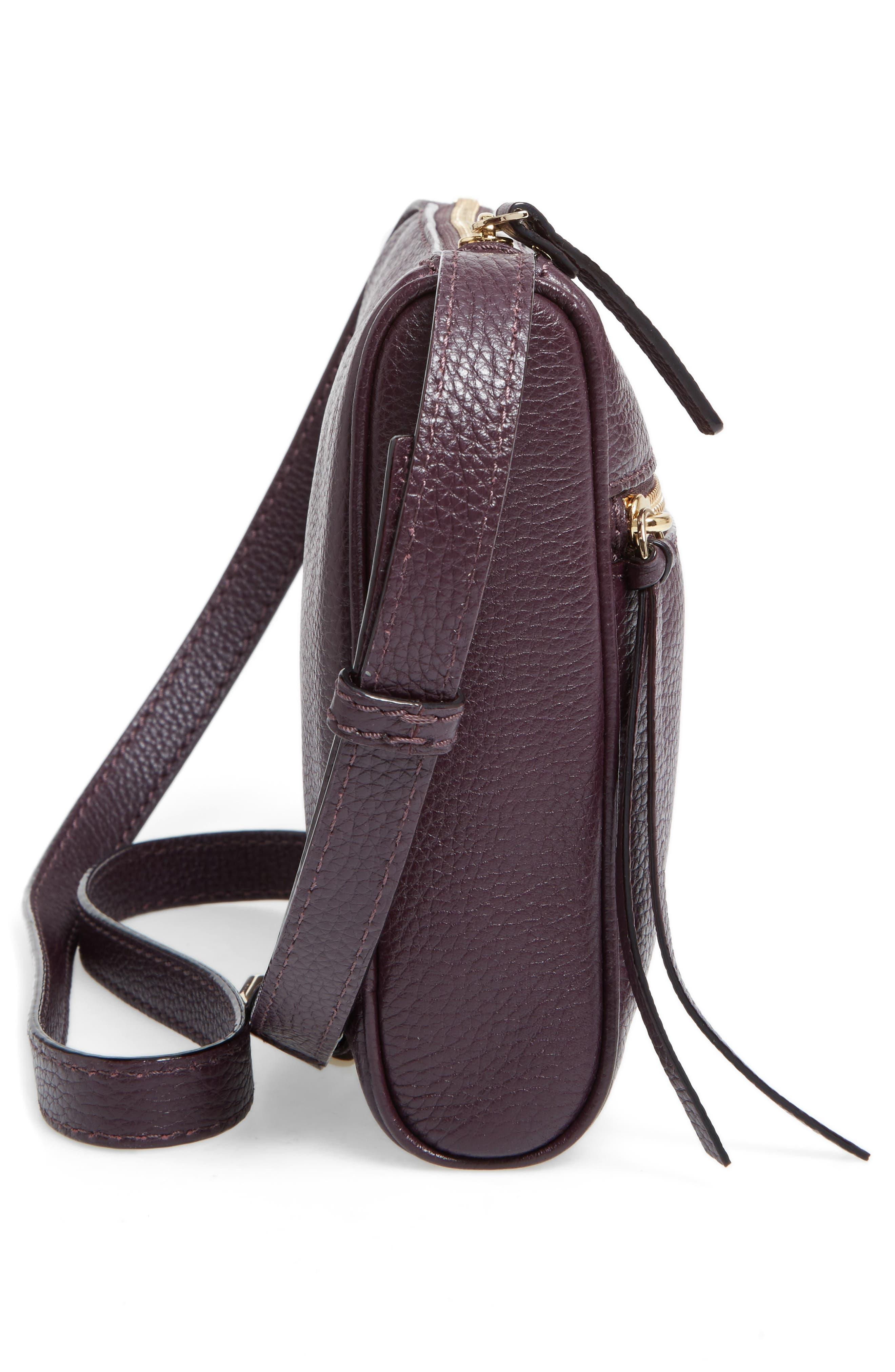 young lane - cayli leather crossbody bag,                             Alternate thumbnail 5, color,                             Dark Mahogany