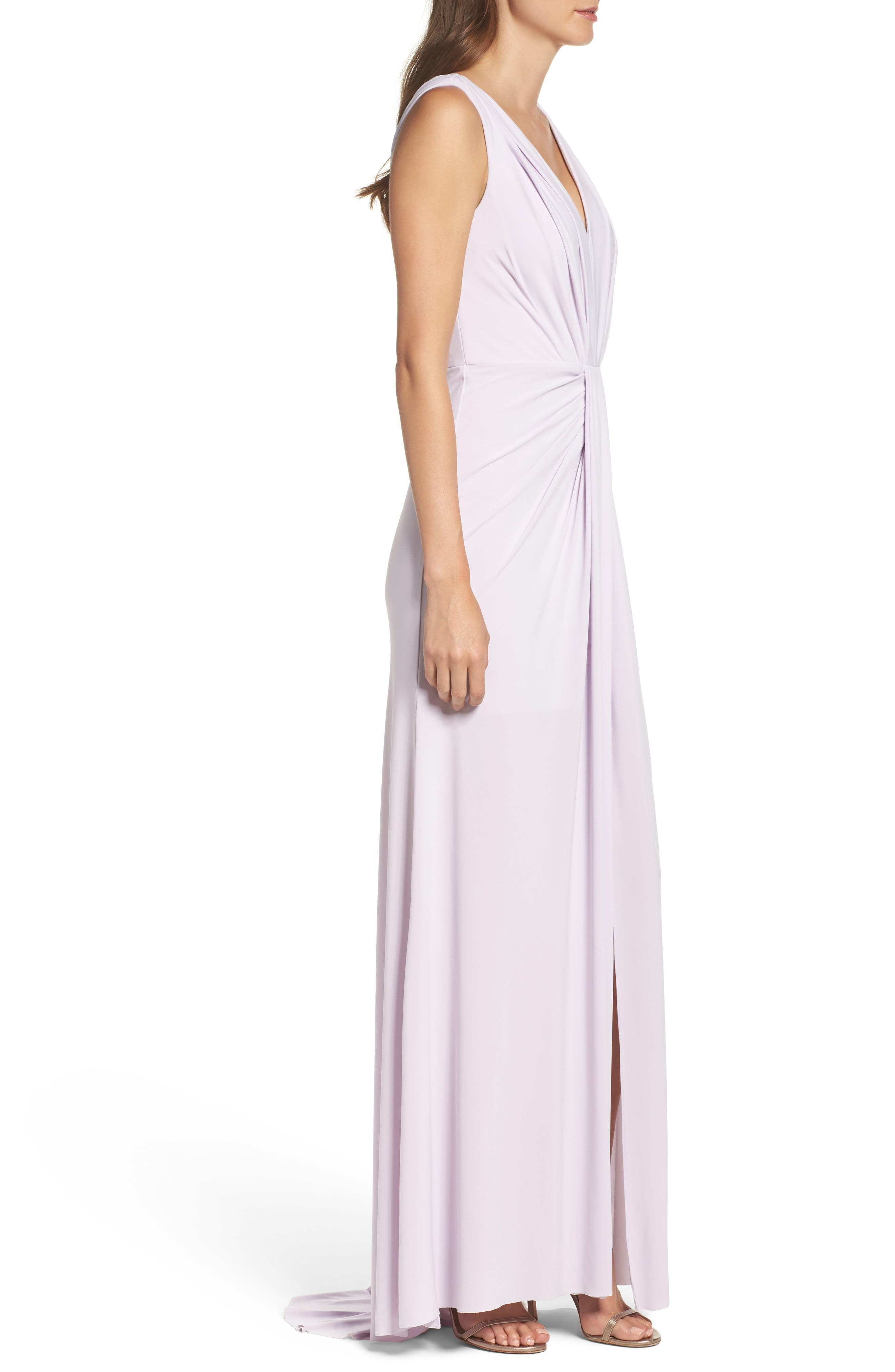 Alternate Image 3  - Vera Wang Jersey Pleated Fit & Flare Gown