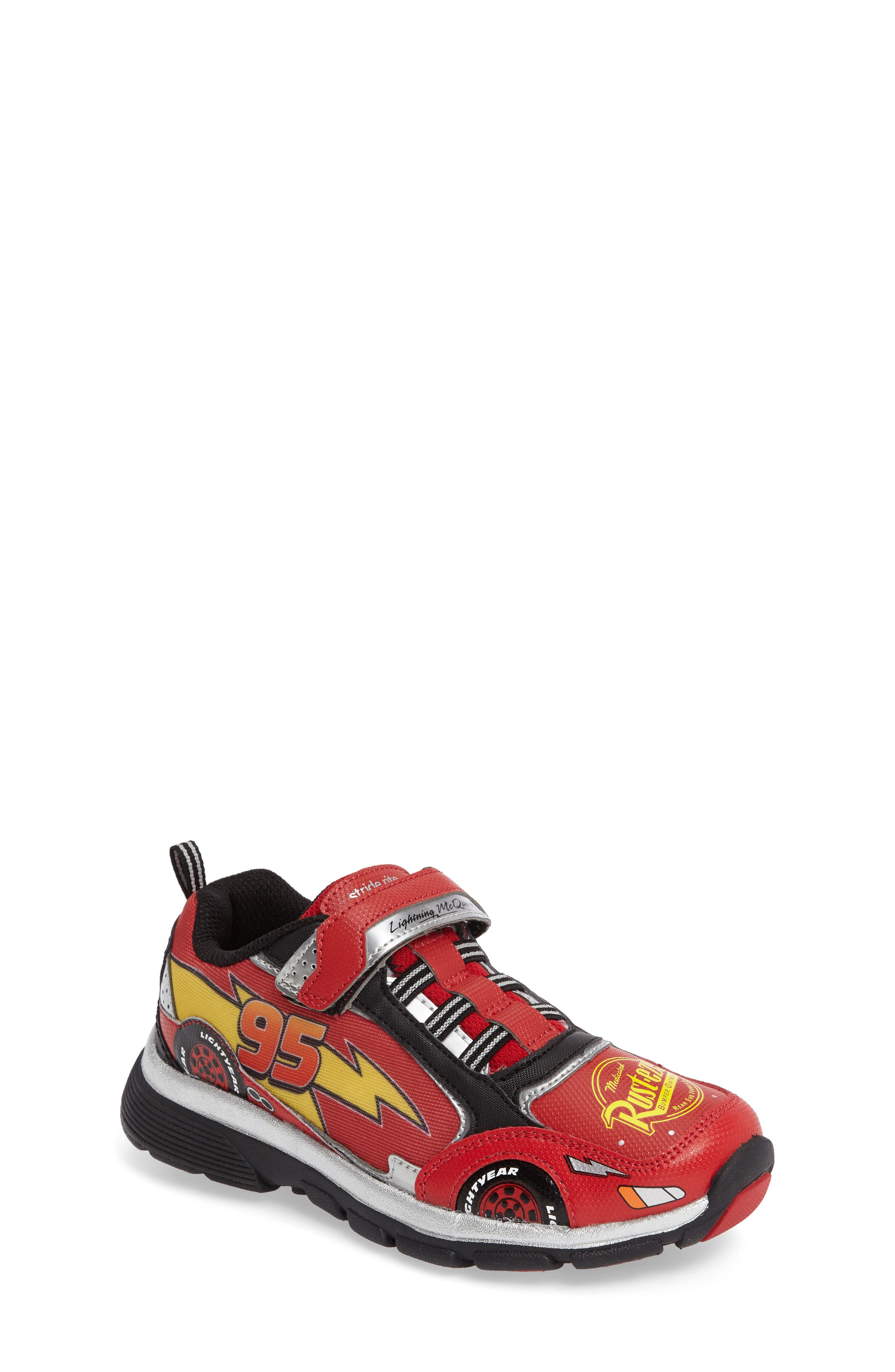 Disney Cars Sneaker,                             Main thumbnail 1, color,                             Red
