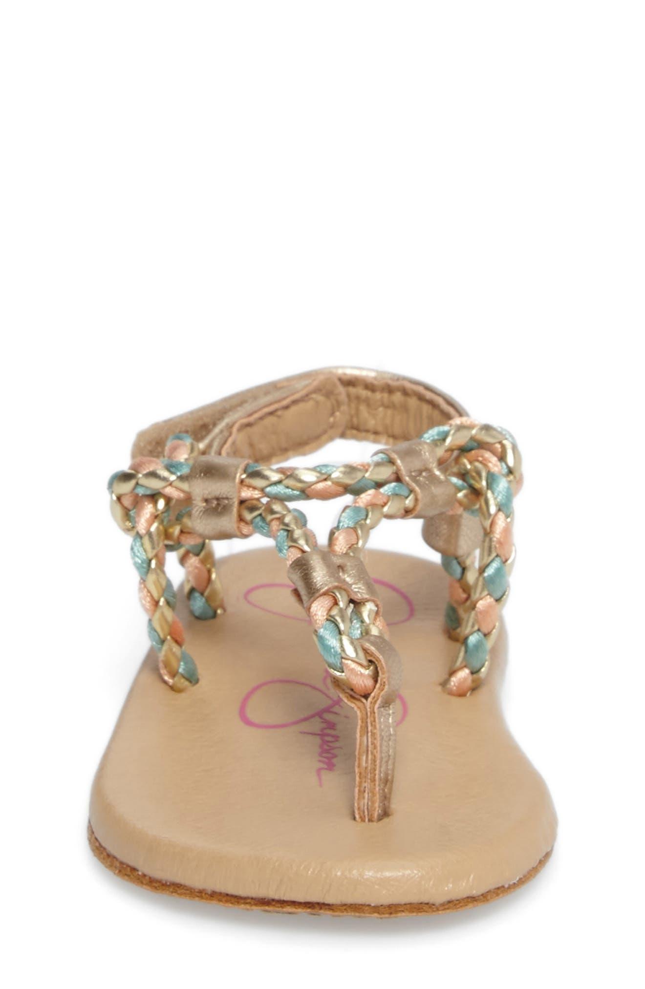 Alternate Image 4  - Jessica Simpson Swizzle Thong Sandal (Baby)