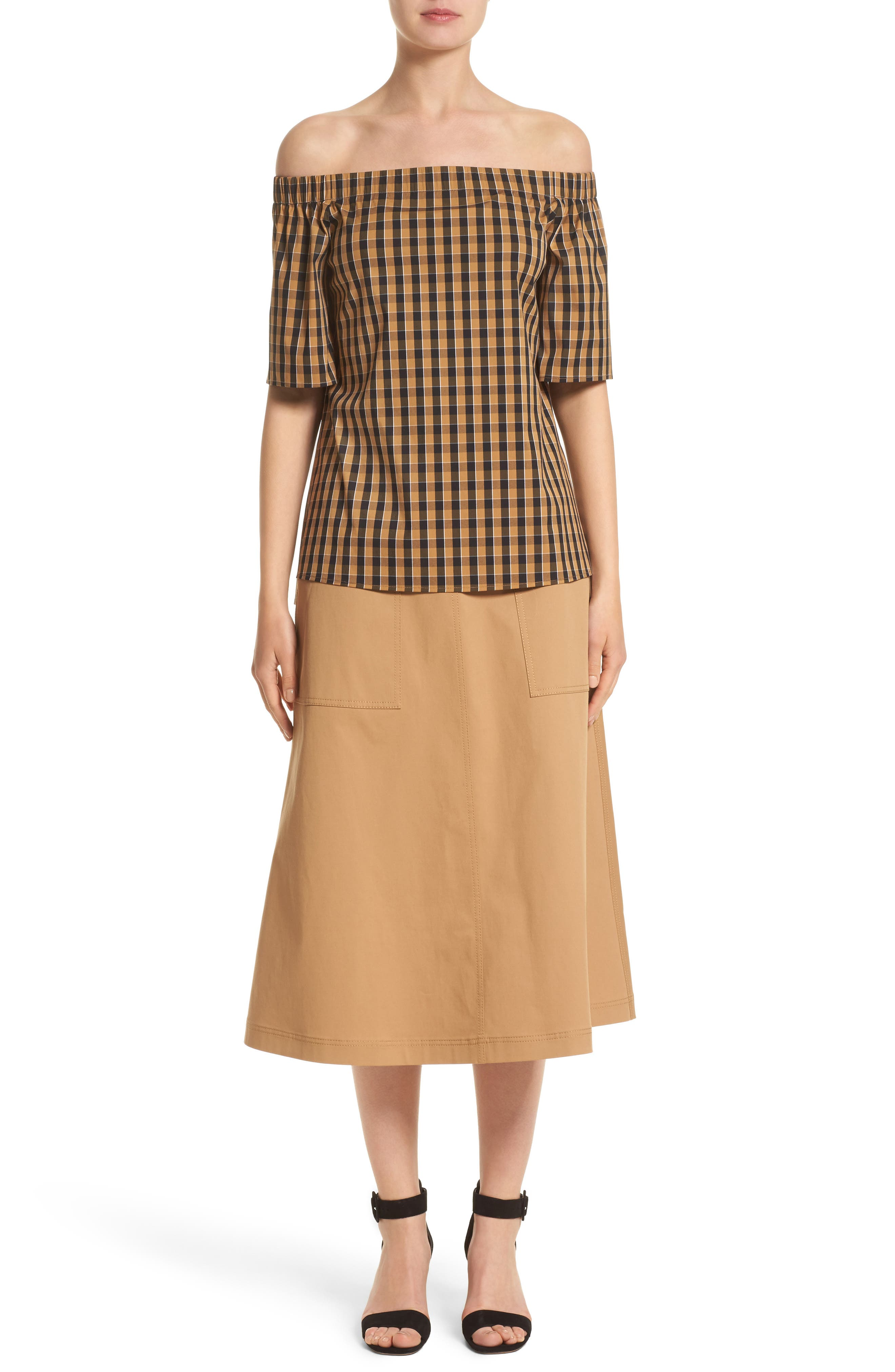 Alternate Image 7  - Lafayette 148 New York Livvy Neo Classic Check Blouse